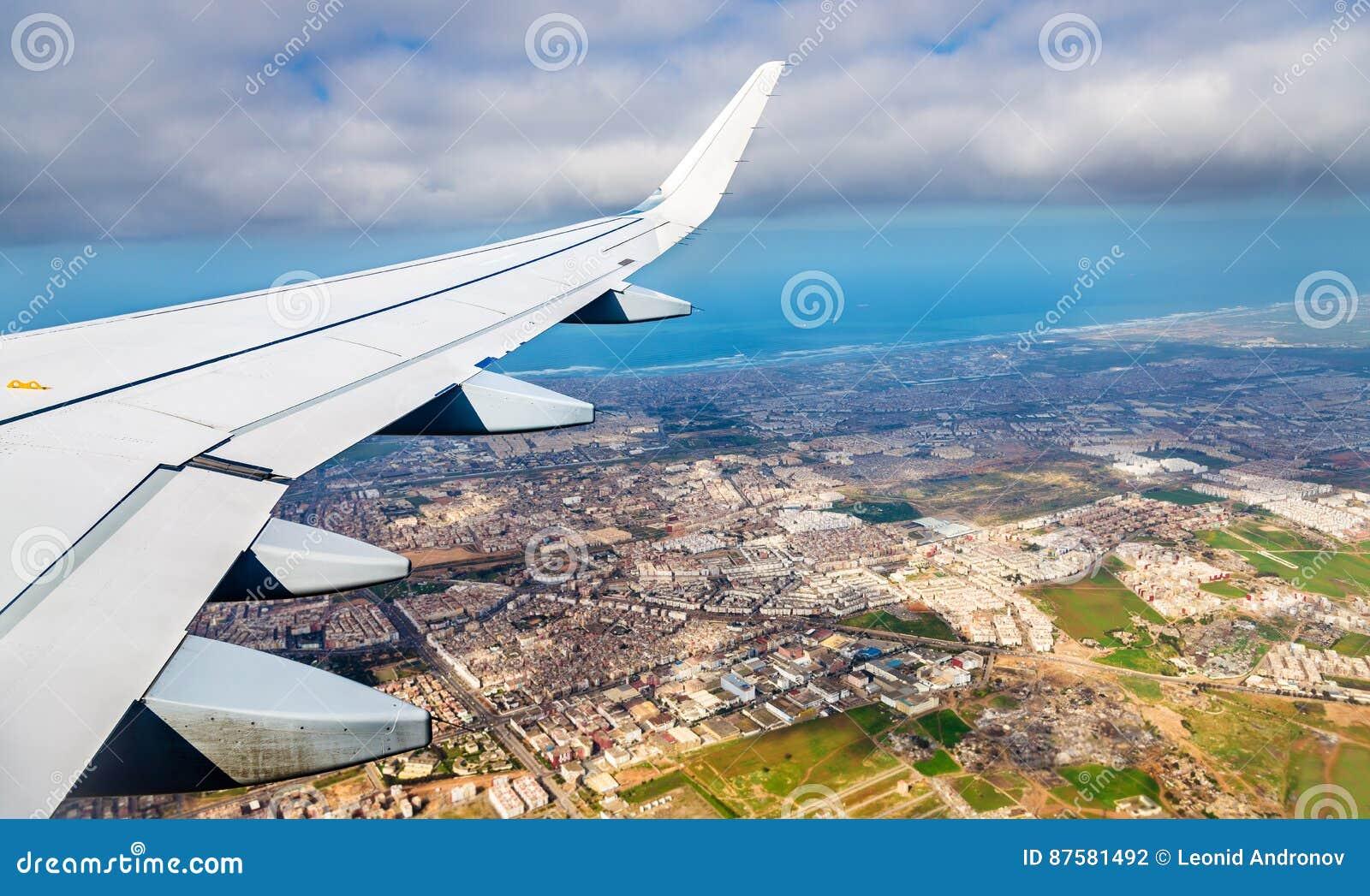 Widok z lotu ptaka Casablanca od desantowego samolotu
