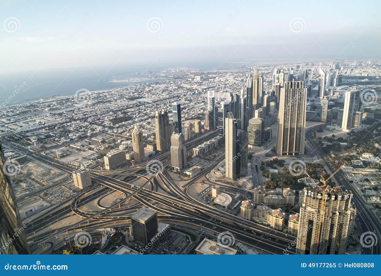 Widok z lotu ptaka Dubaj