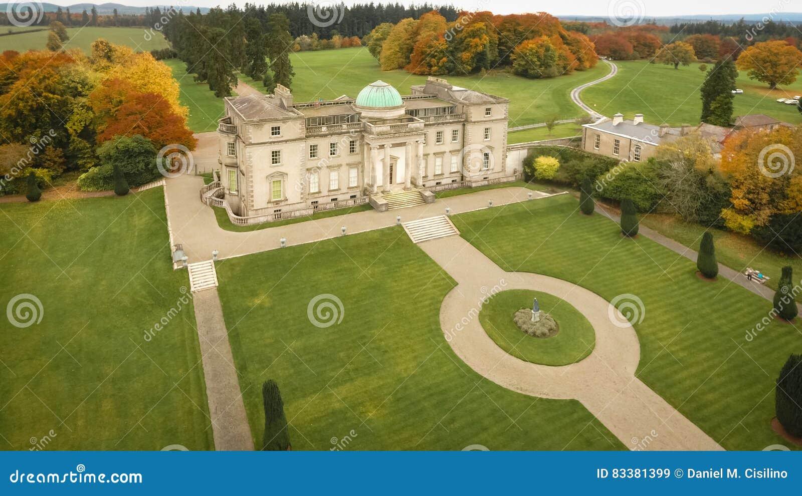 Widok z lotu ptaka Emo Dworski dom Portlaoise Irlandia