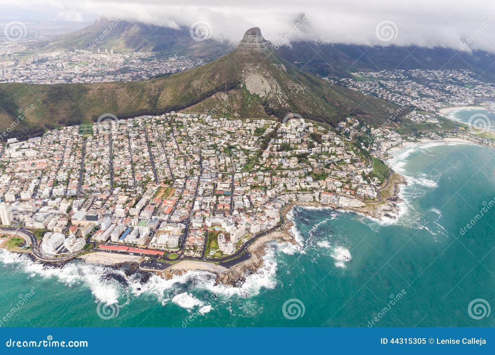 Widok z lotu ptaka Kapsztad † Południowa Afryka