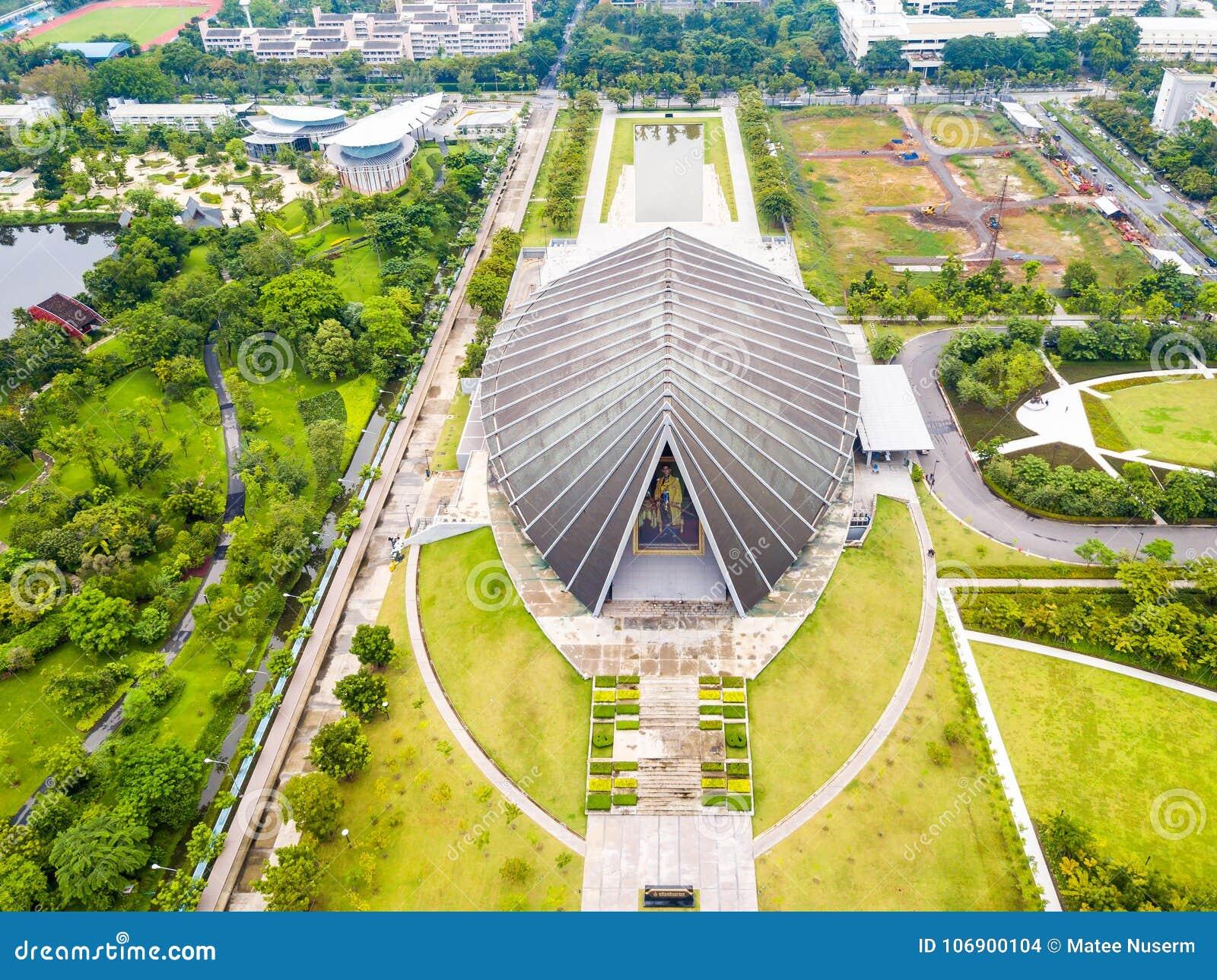 Widok z lotu ptaka Mahidol Sittha-kharn