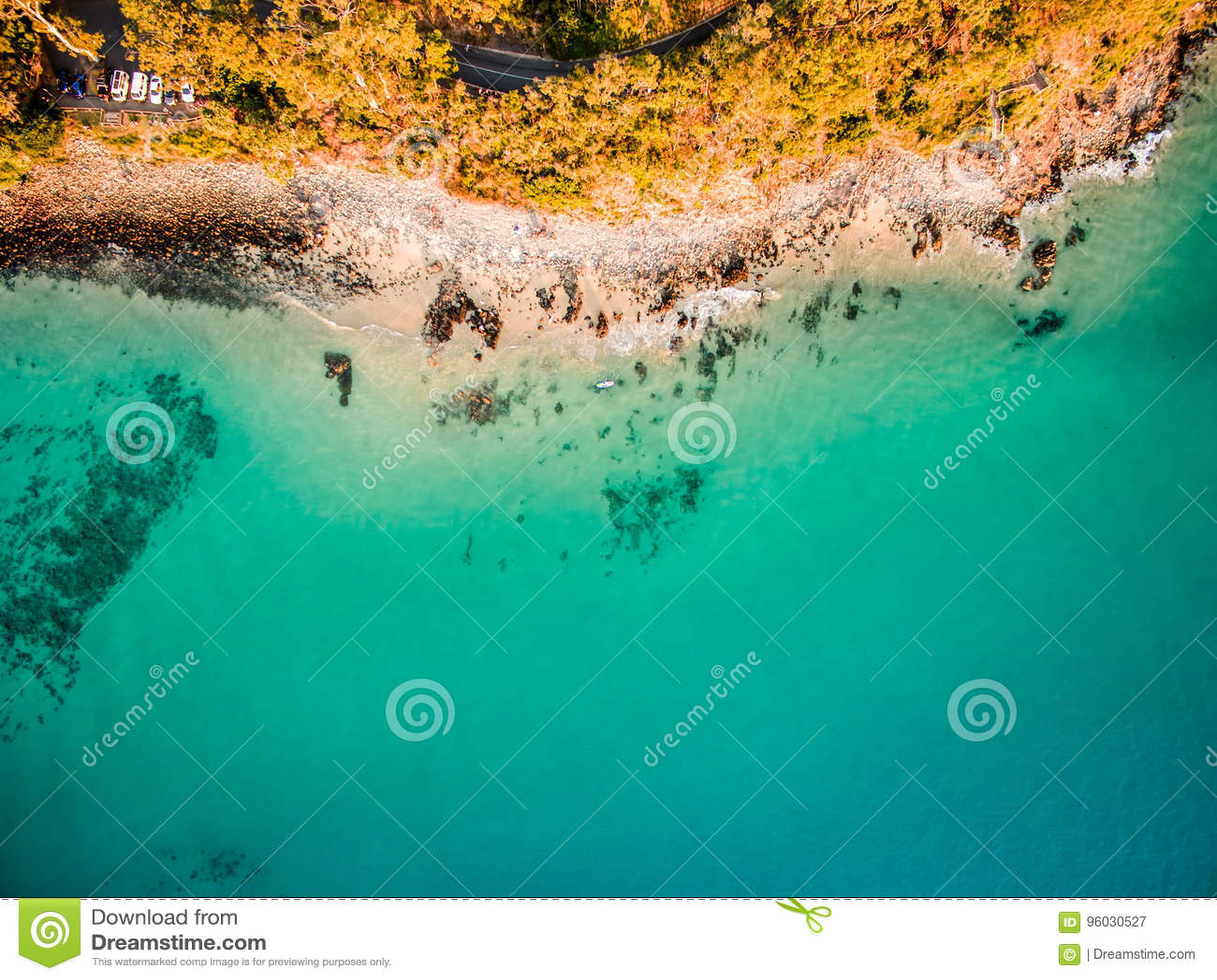 Widok z lotu ptaka plaża