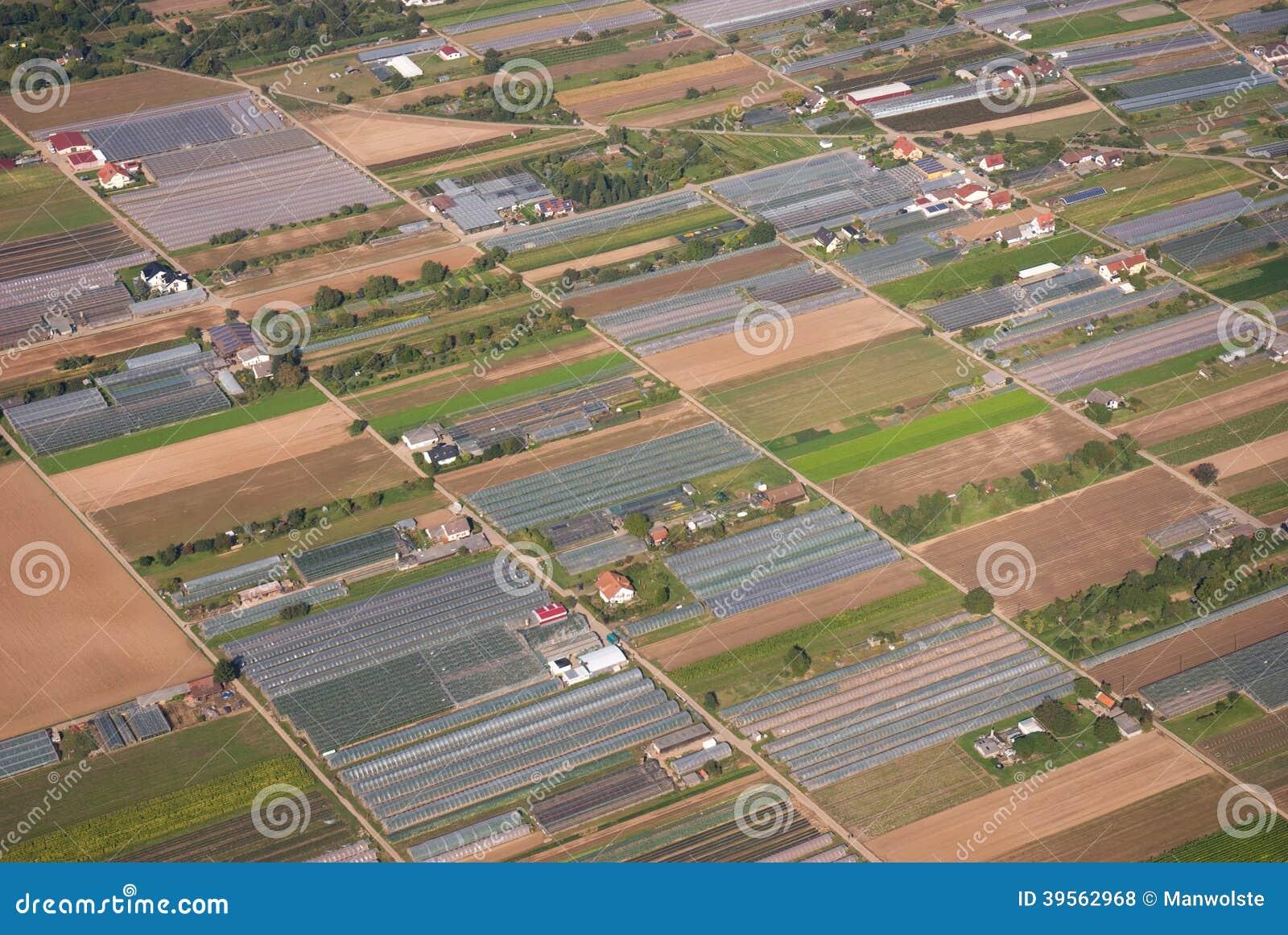 Widok z lotu ptaka rolniczy teren w Niemcy, Europa
