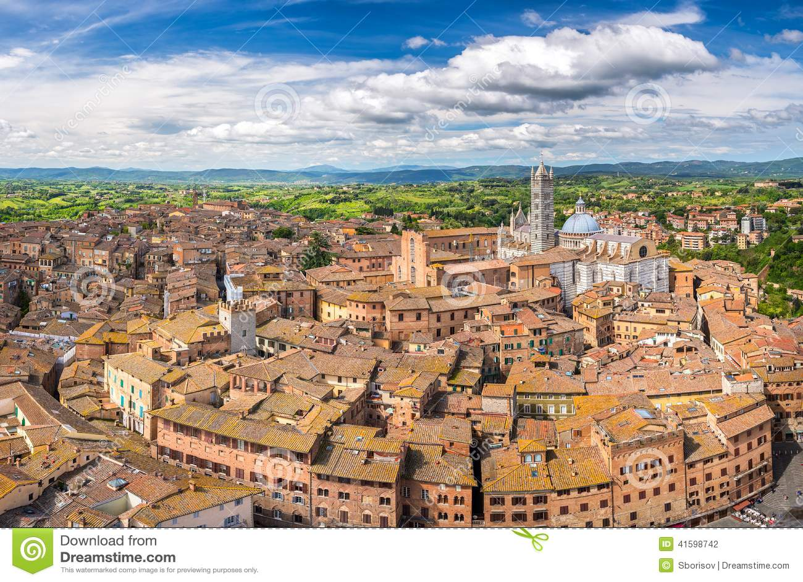Widok z lotu ptaka Siena