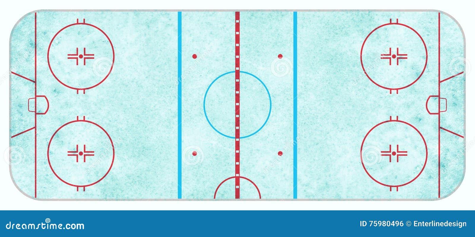 Widok Z Lotu Ptaka Textured Lodowego hokeja lodowisko