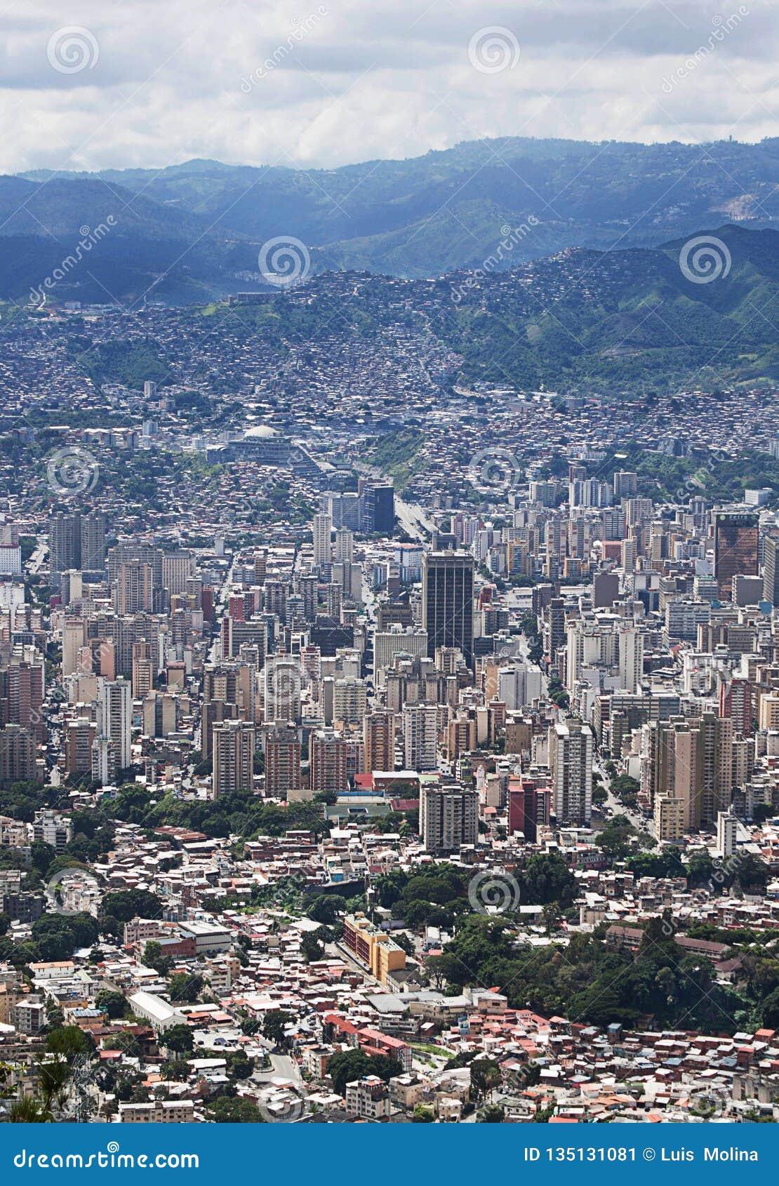 Widok z lotu ptaka Wenezuela stolica Caracas