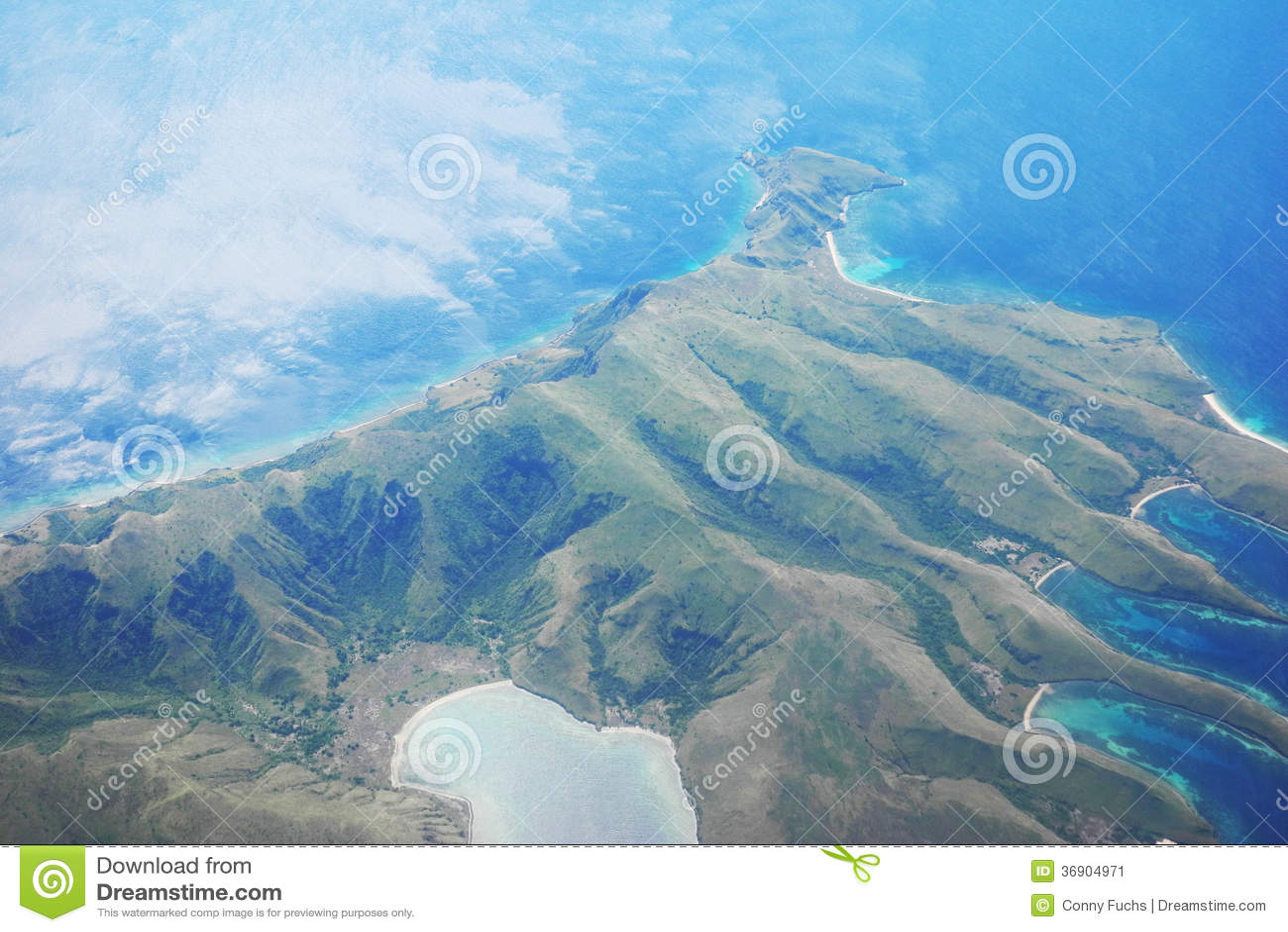 Widok z lotu ptaka wyspa