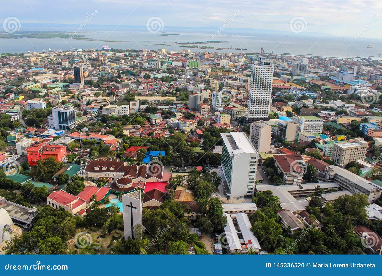 Widok z wierzchu Cebu miasta, Filipiny
