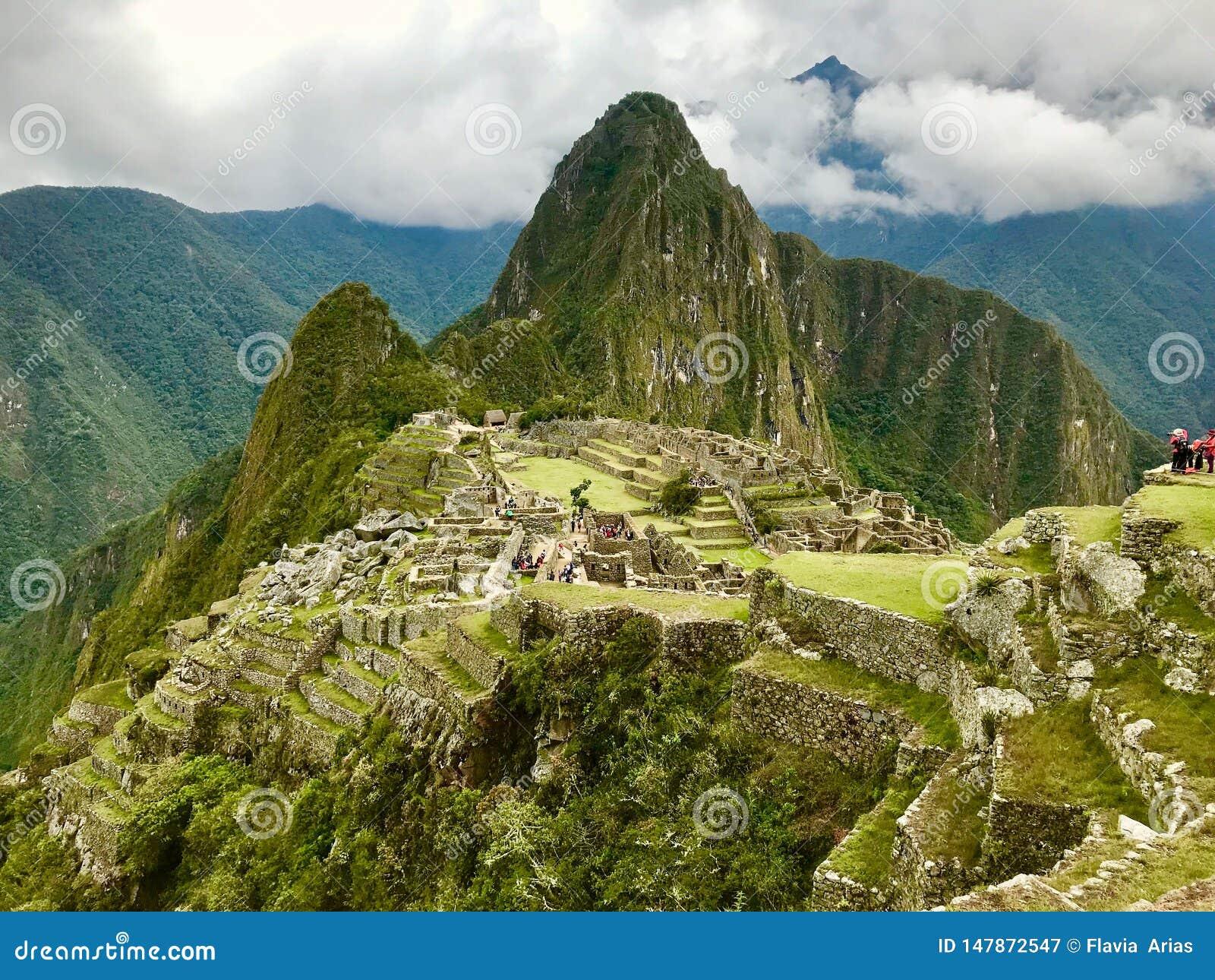 Widok z wierzchu Machu Picchu, Cuzco, Peru