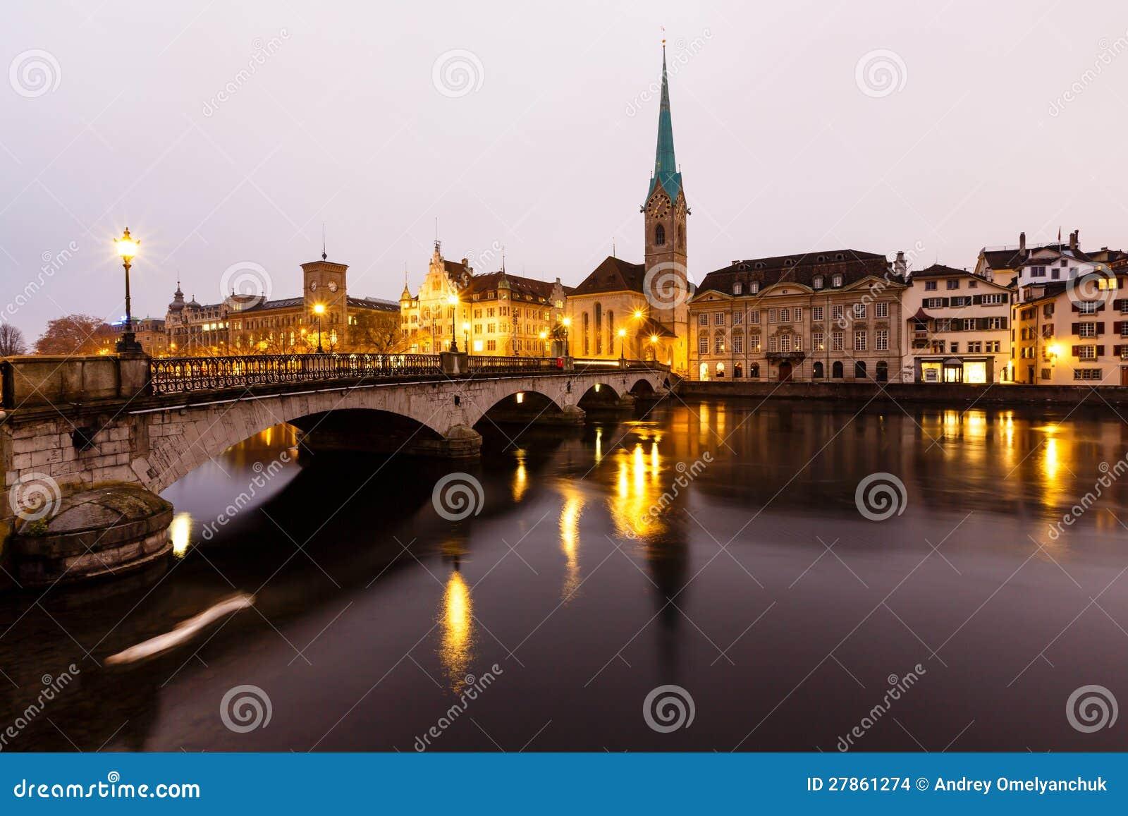 Widok Zurich i Stary Centrum Miasta