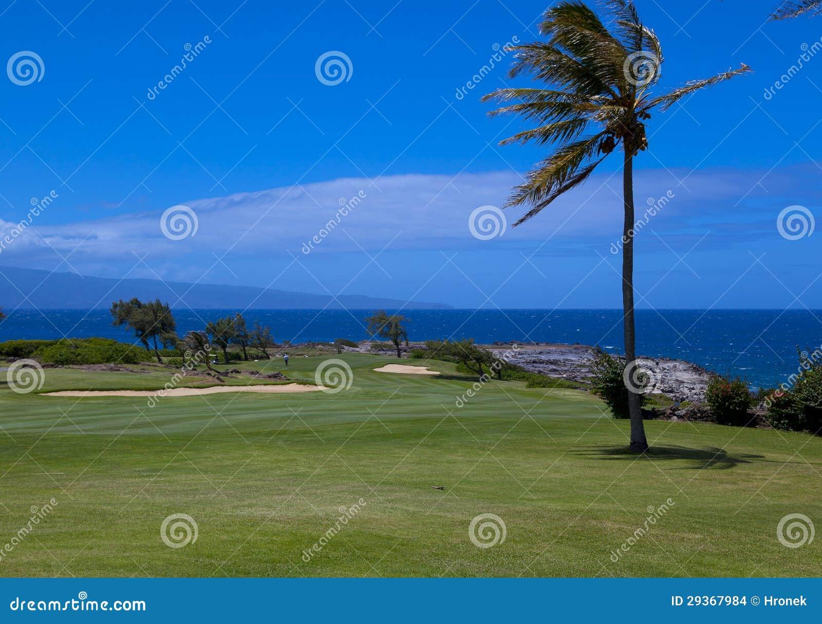 Widoki ocean i Laina wyspa od pola golfowego