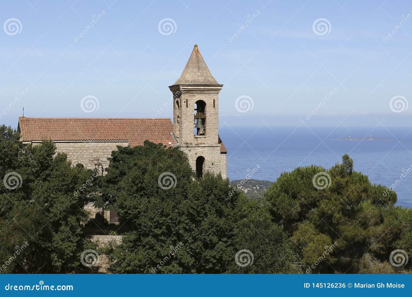 Widoku korsykanina kościół