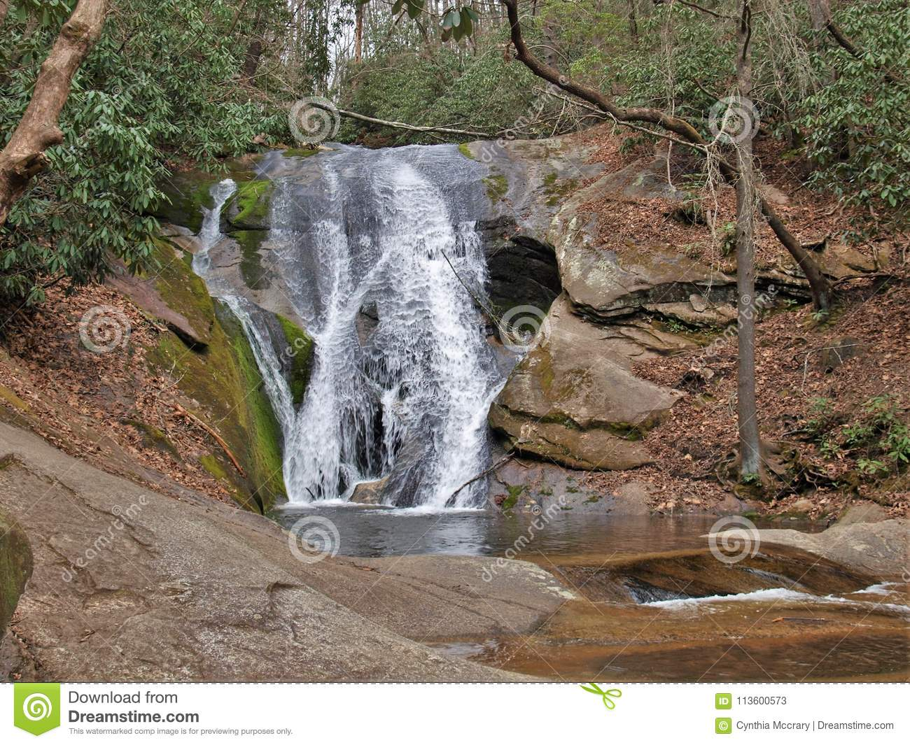 Widow S Creek Falls At Stone Mountain State Park Stock Image Image