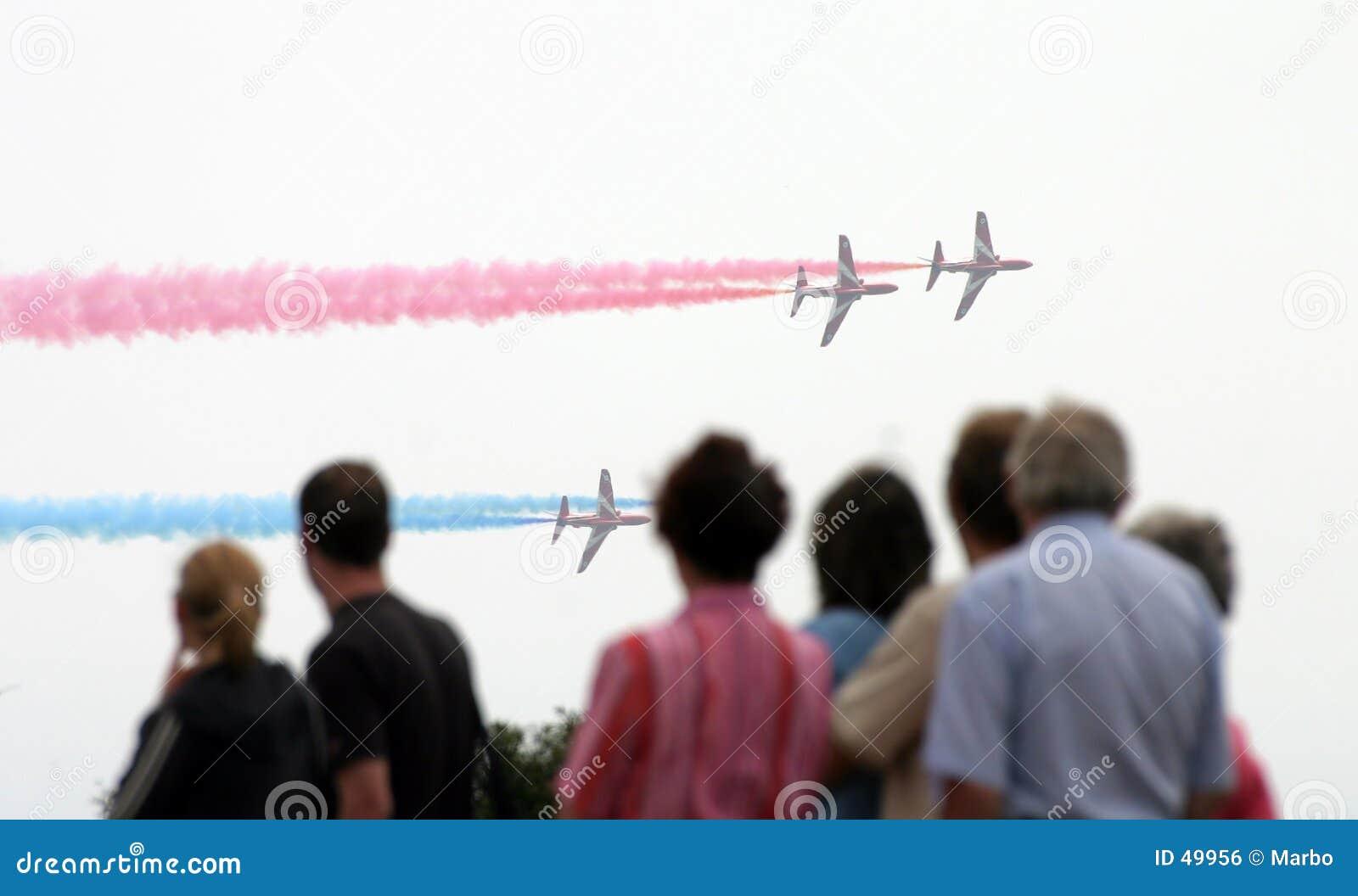 Widzowie airshow