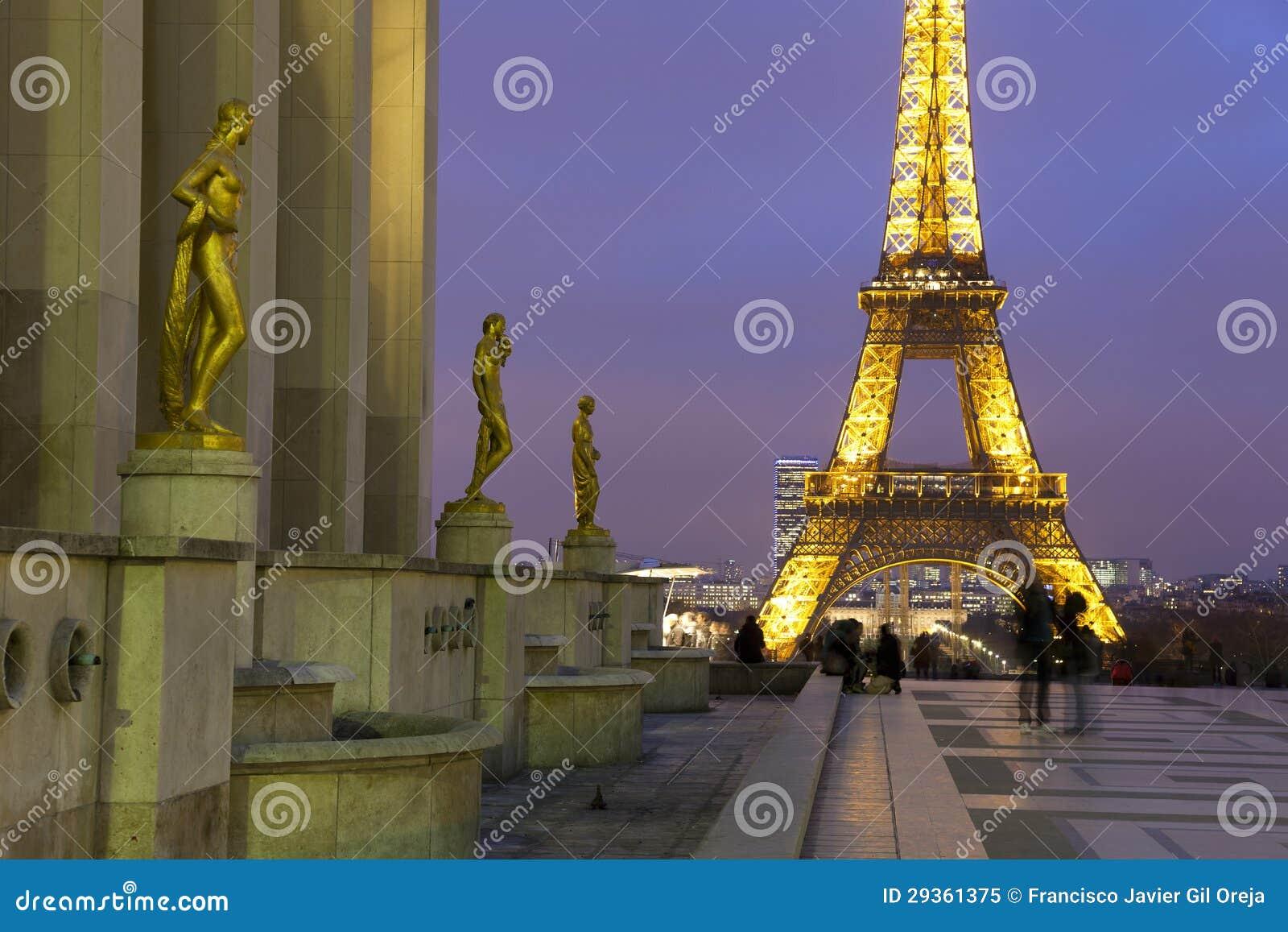 Wieża Eifla od Palais De Chaillot, Paryż