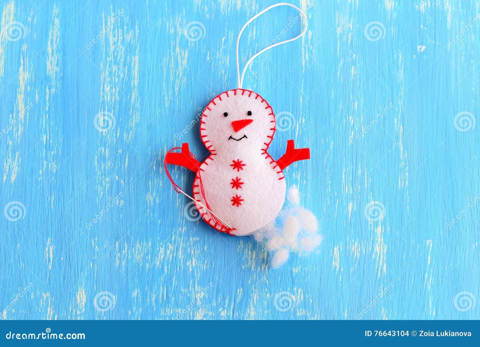 Wie Man Ein Weihnachten Glaubte Schneemannverzierung Macht Jobstep