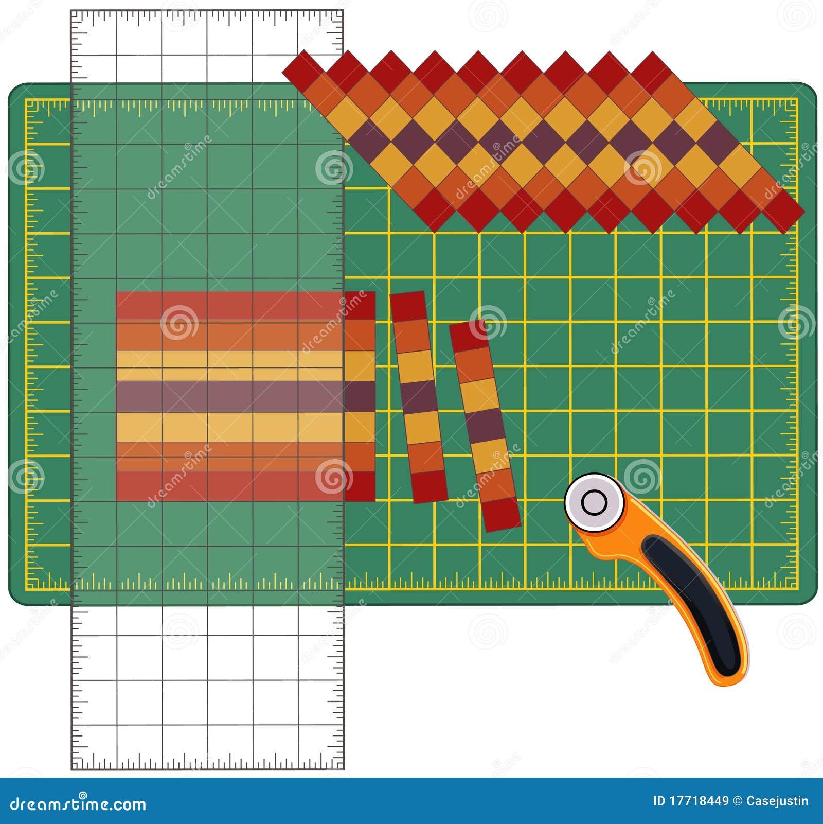 wie man patchwork herstellt lizenzfreie stockbilder bild 17718449. Black Bedroom Furniture Sets. Home Design Ideas