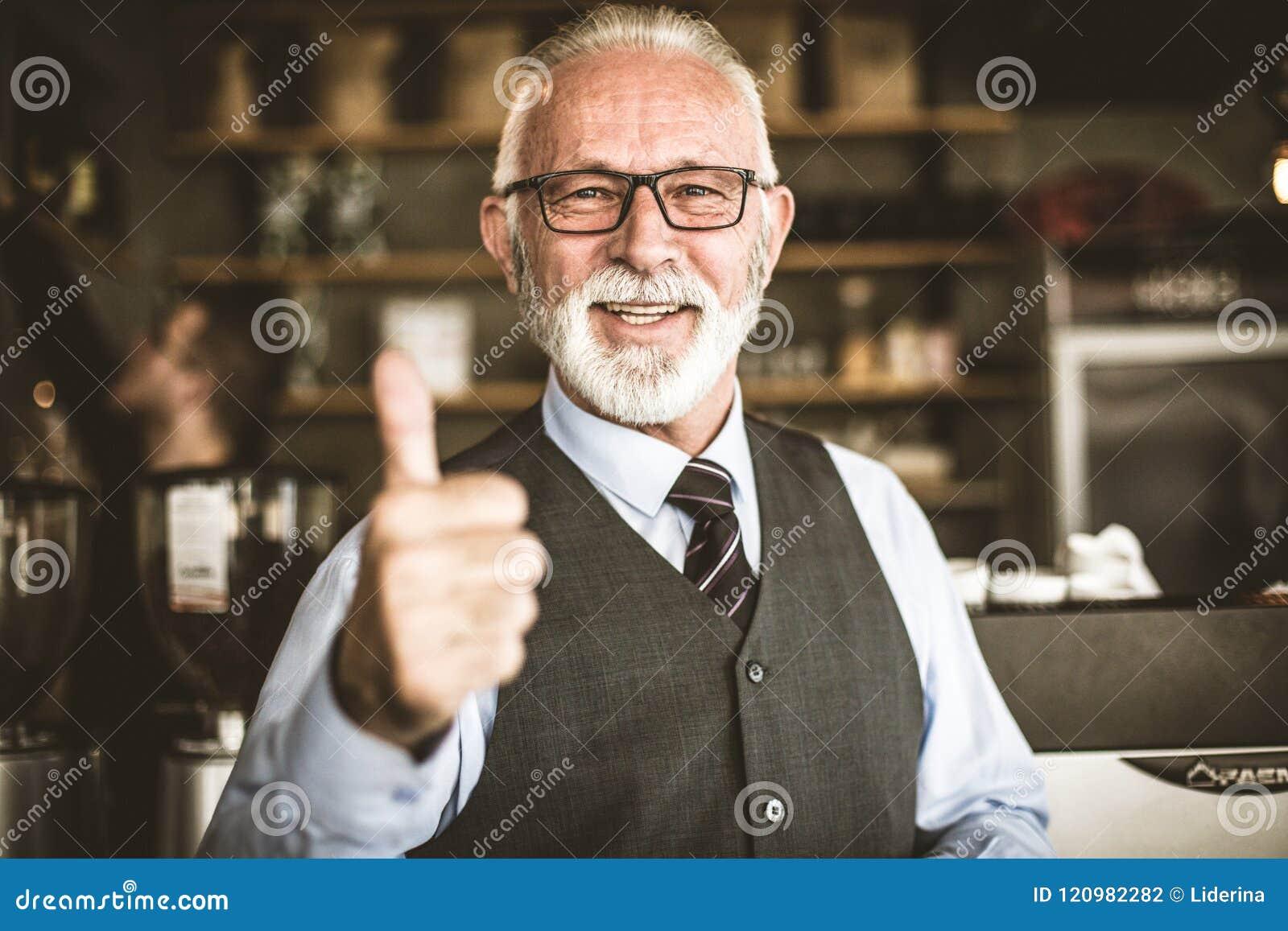 Wie, wenn Sie erfolgreiches Geschäft haben Ältere Person