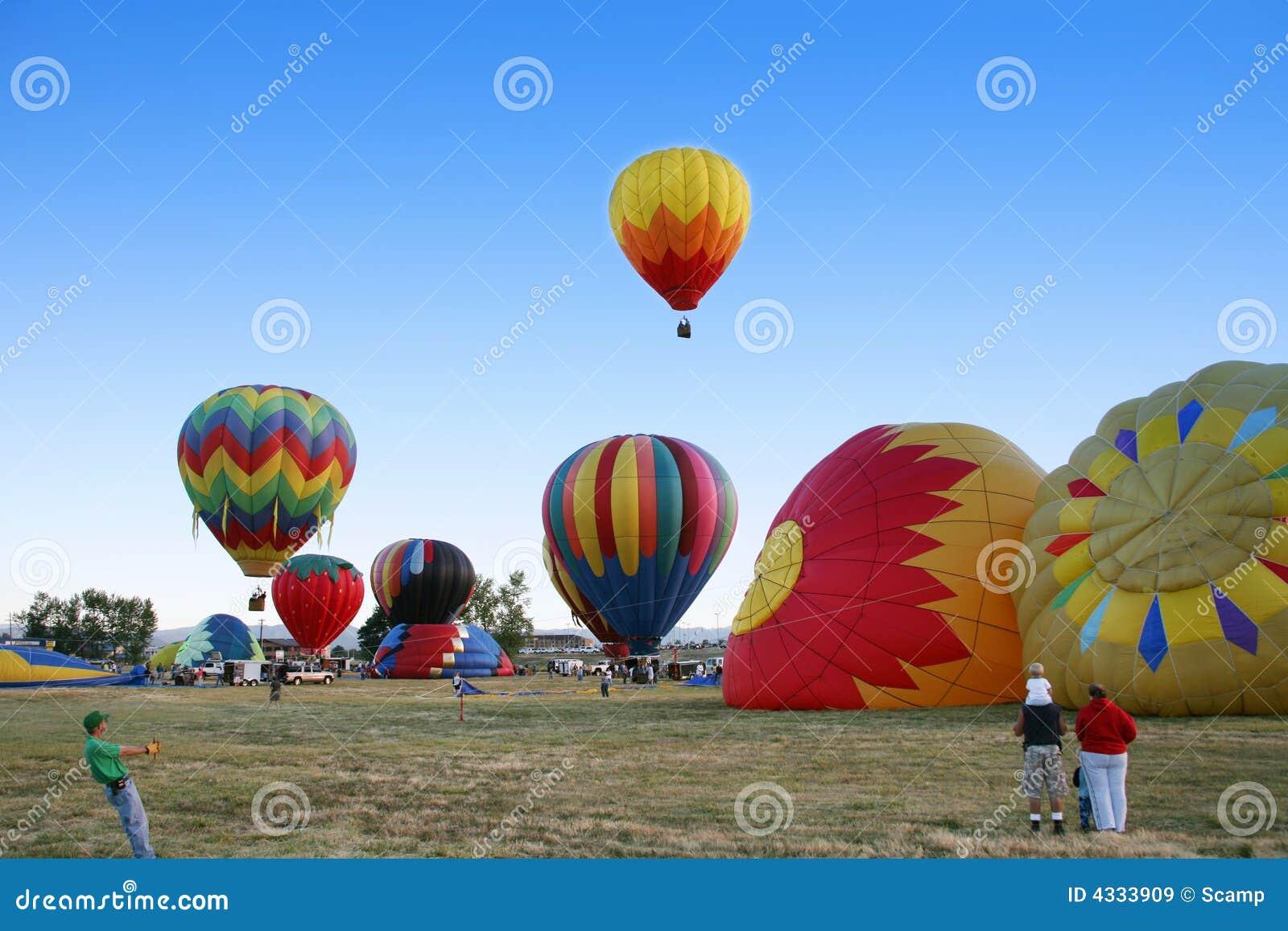Wiec ballone gorące powietrze