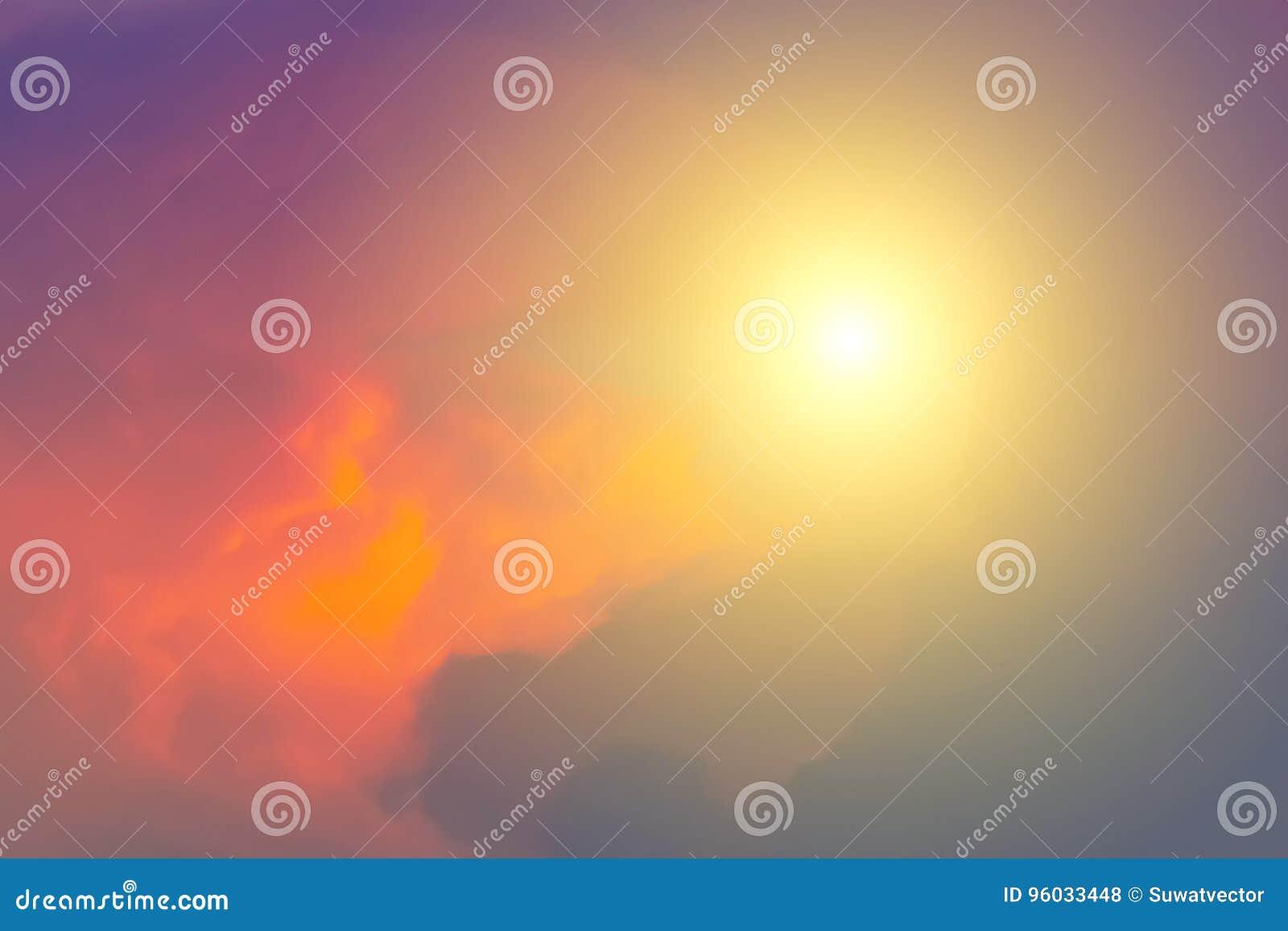 Wieczór światła słonecznego pomarańczowa gorąca strefa