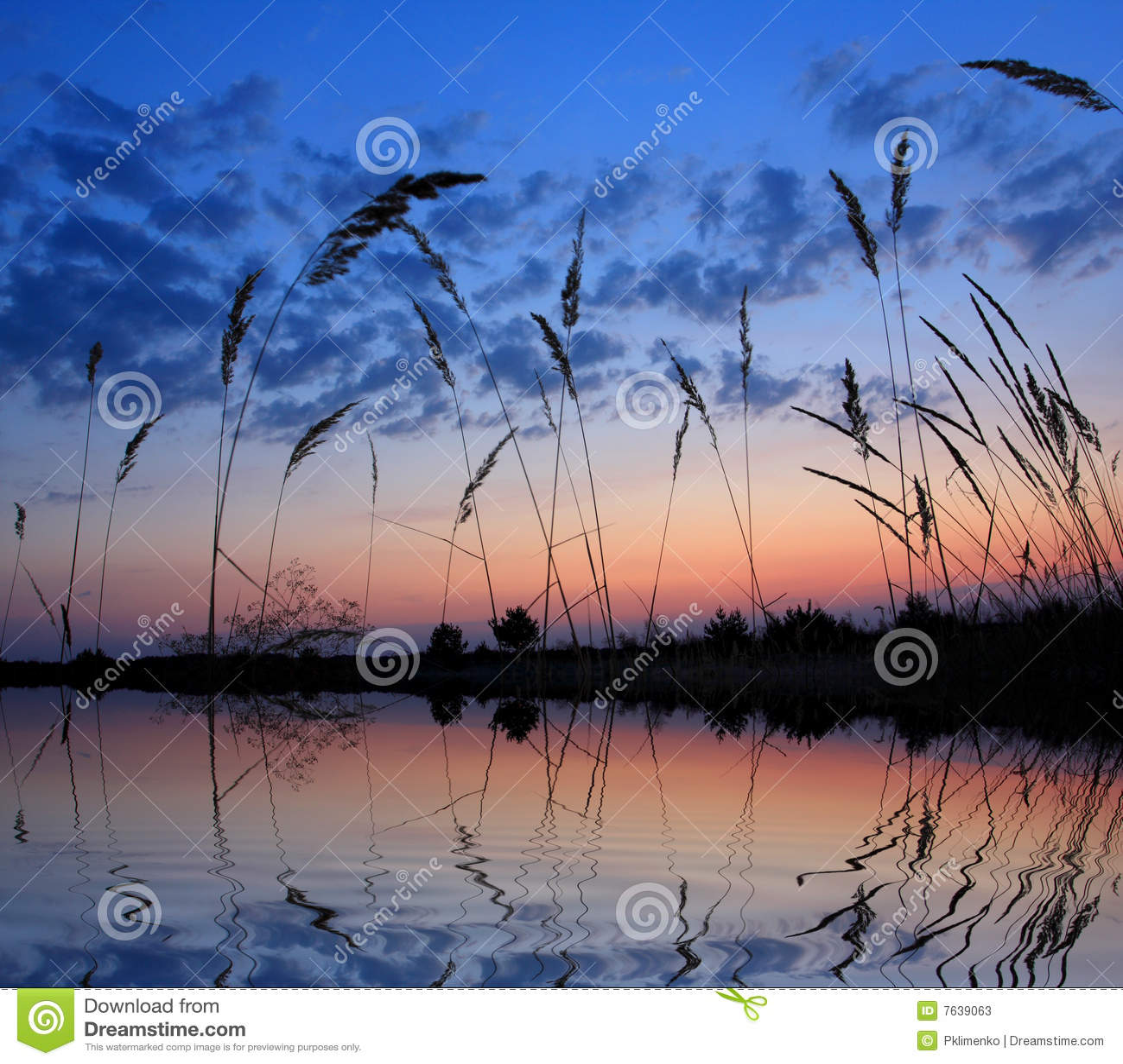 Wieczór jeziora scena