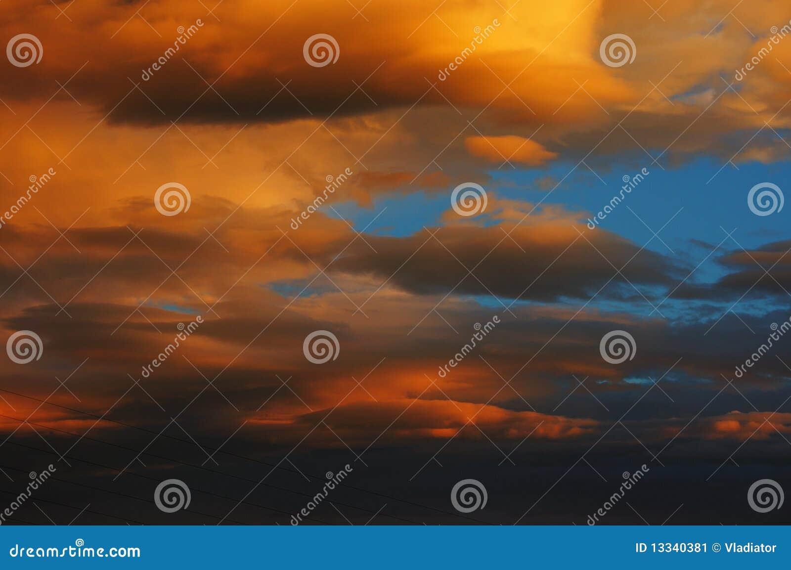 Wieczór niebo