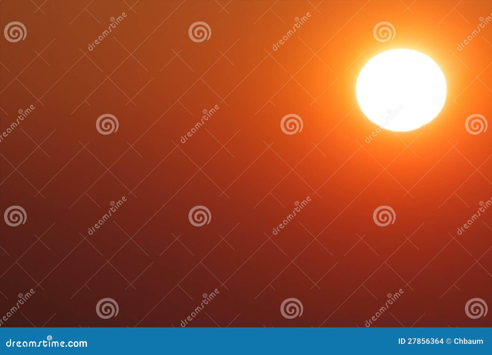 Wieczór potężny Słońce