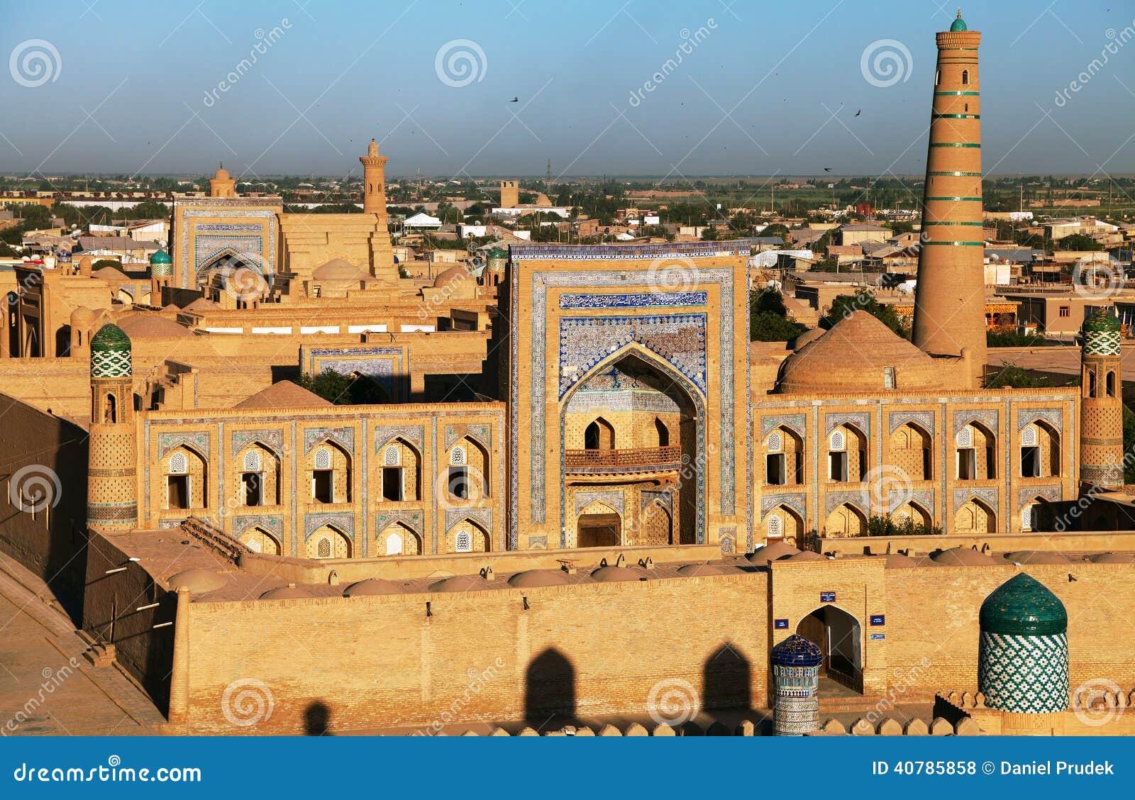 Wieczór widok Khiva