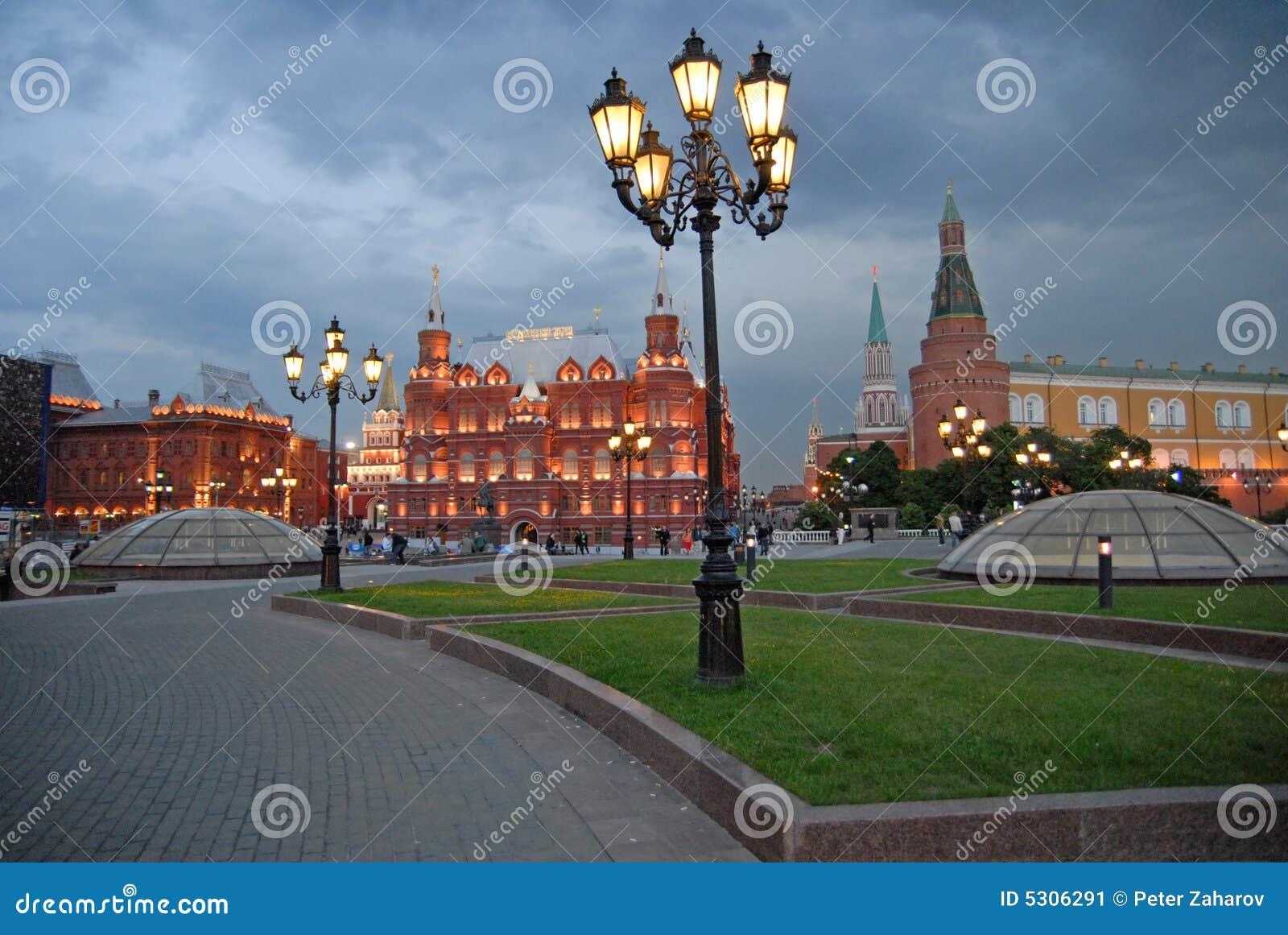 Wieczorem Moscow Rosji