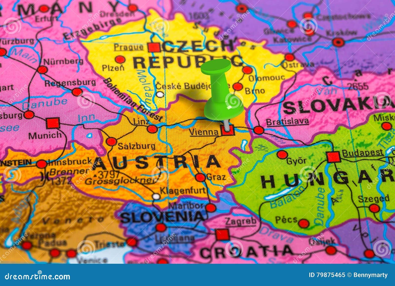 Wieden Austria Mapa Obraz Stock Obraz Zlozonej Z Geograficznie