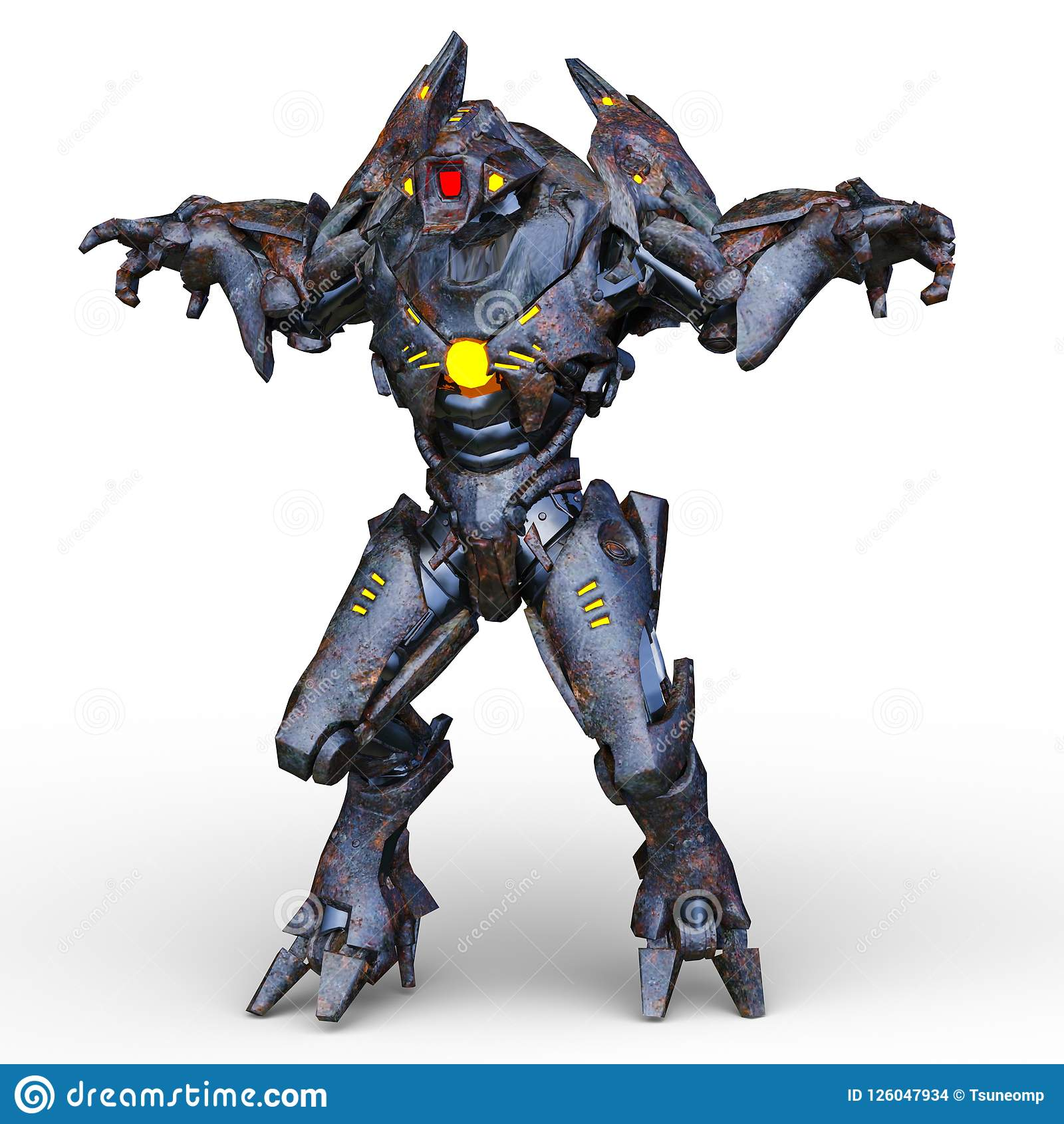 Wiedergabe 3D CG von Humanoid