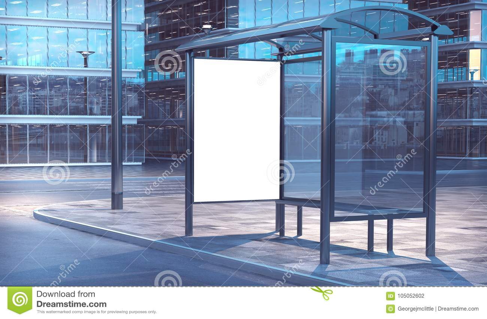 Wiedergabe der Bushaltestelle 3d