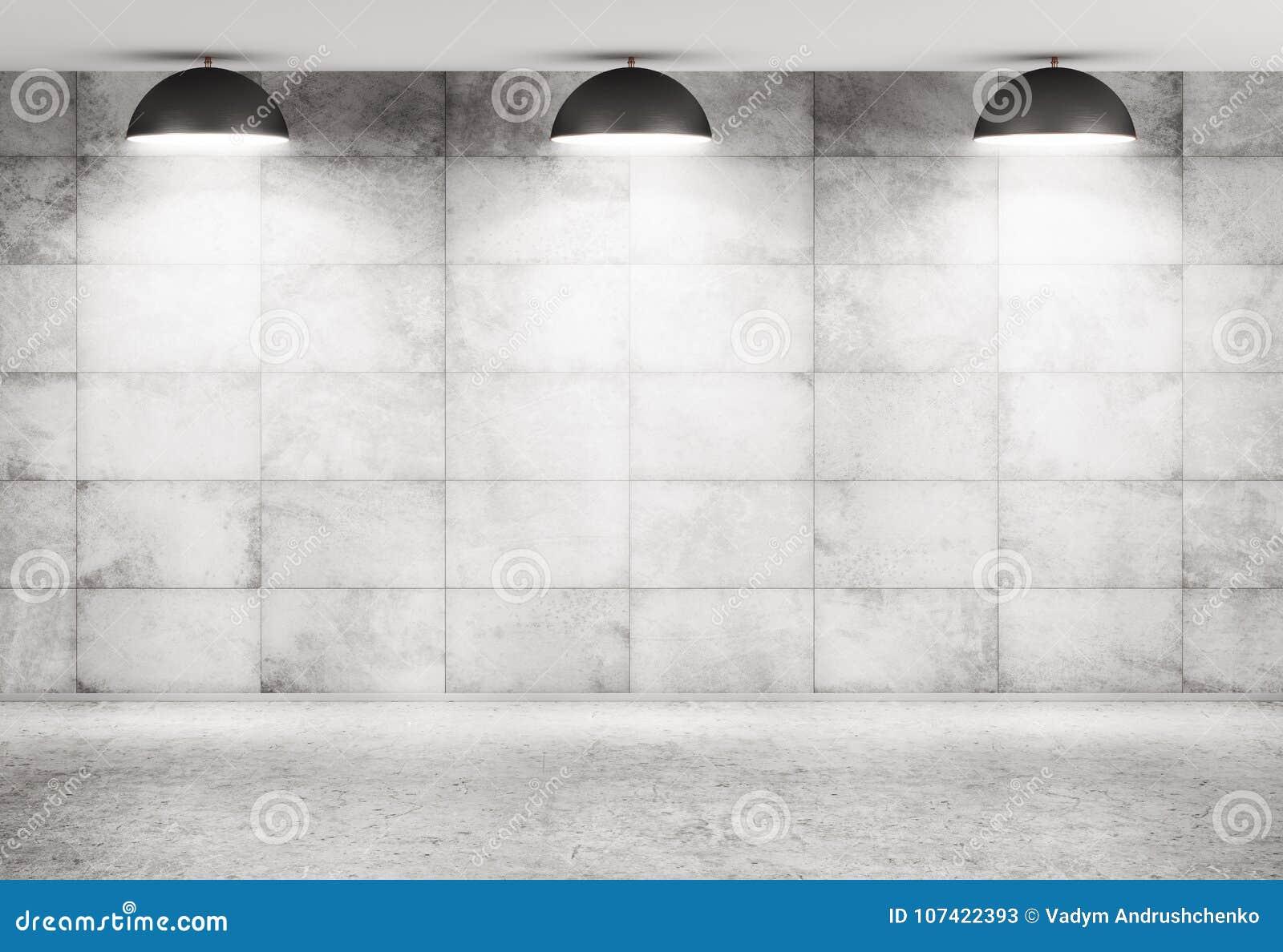 Wiedergabe des Betonmauer- und Bodeninnenhintergrundes 3d