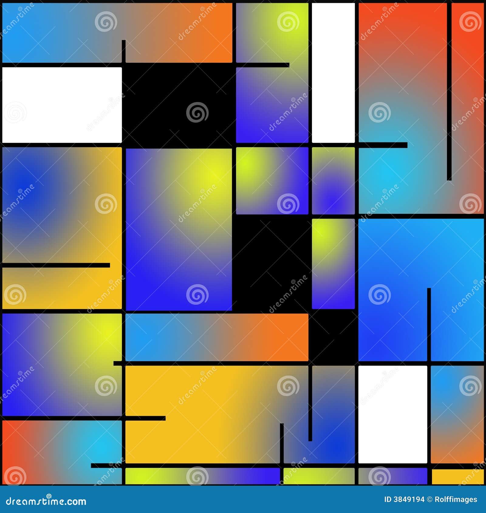Wiederholbarer Mondrian Artanstrich