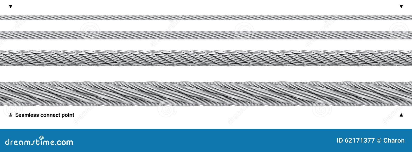 Wiederholbares Drahtseil Des Kabels Des Nahtlosen Stahls Stockbild ...