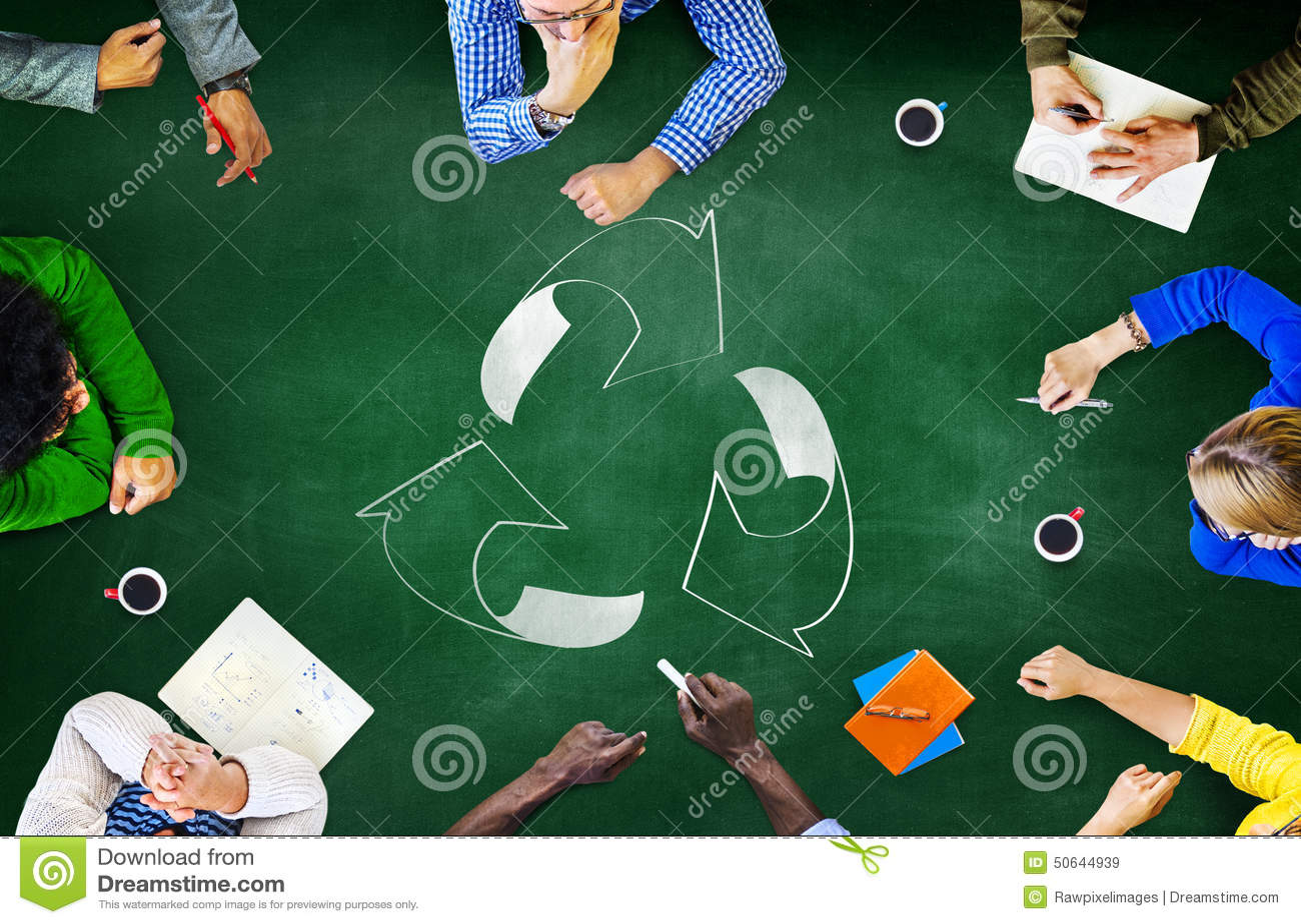 Wiederverwendung bereiten Ökologie-Umwelt gehen grünes Sitzungs-Konzept auf
