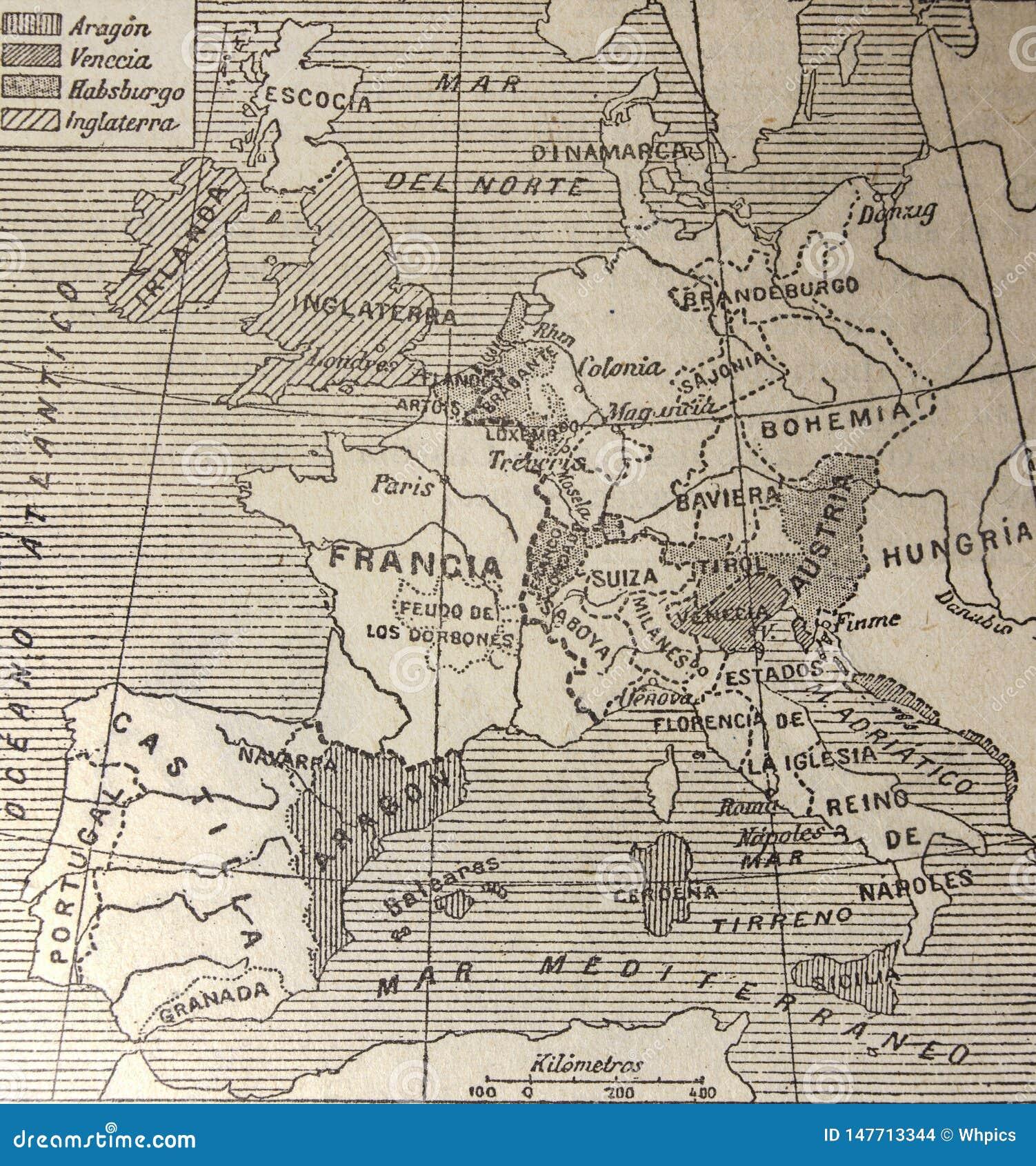 15 wiek Europa mapa