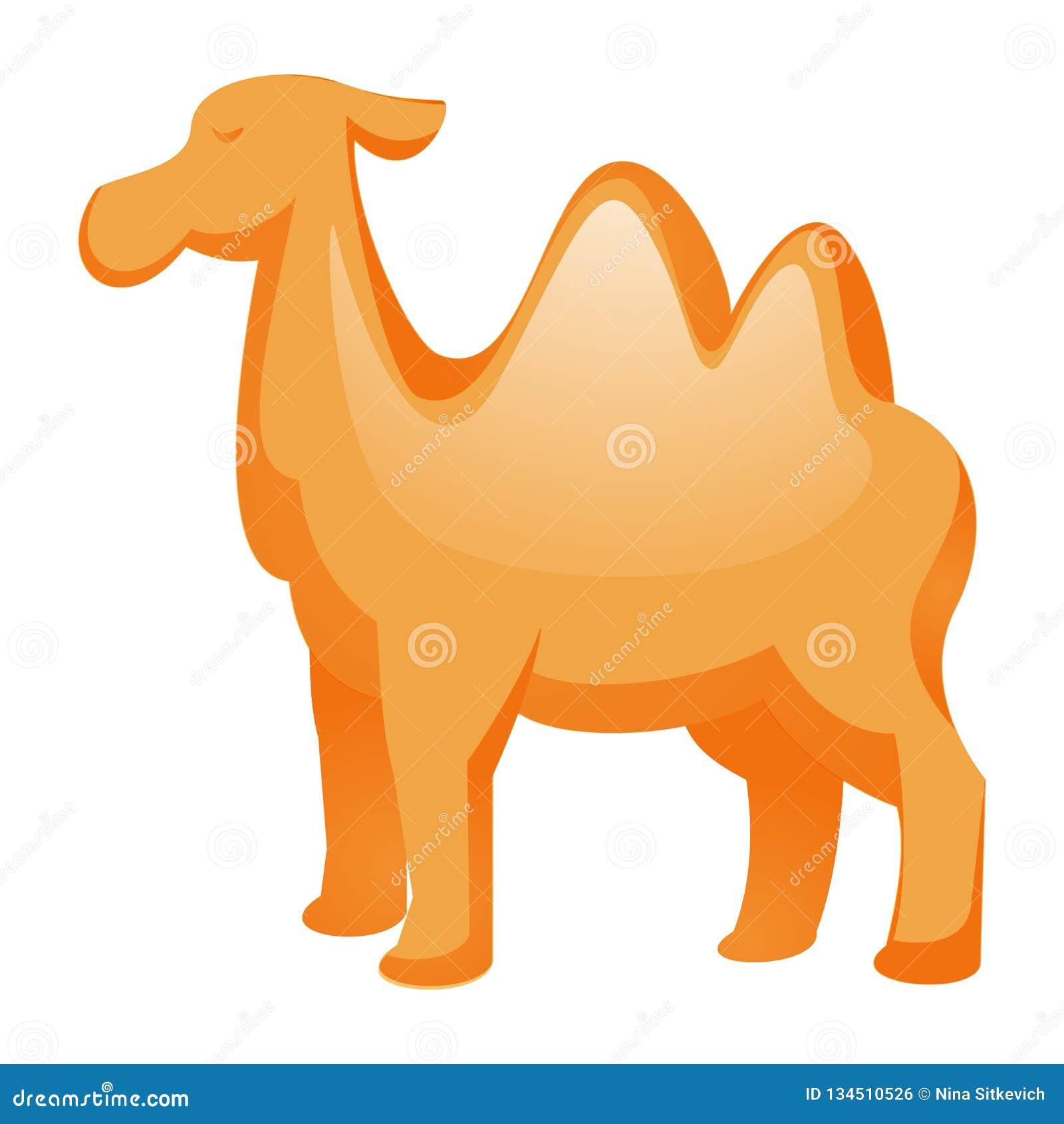 Wielbłądzia ikona, kreskówka styl