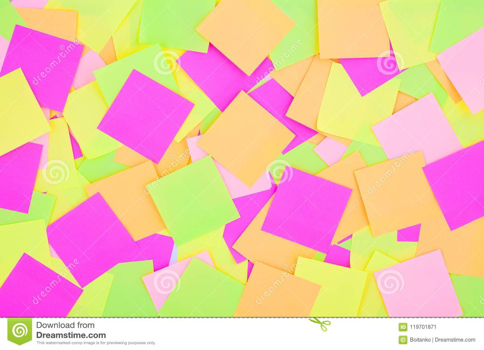 Wiele kolorowa poczta ja zauważa tło Opromieniony kolorowy przypomnienie zauważa tapetę Multicolor poczta ja papier