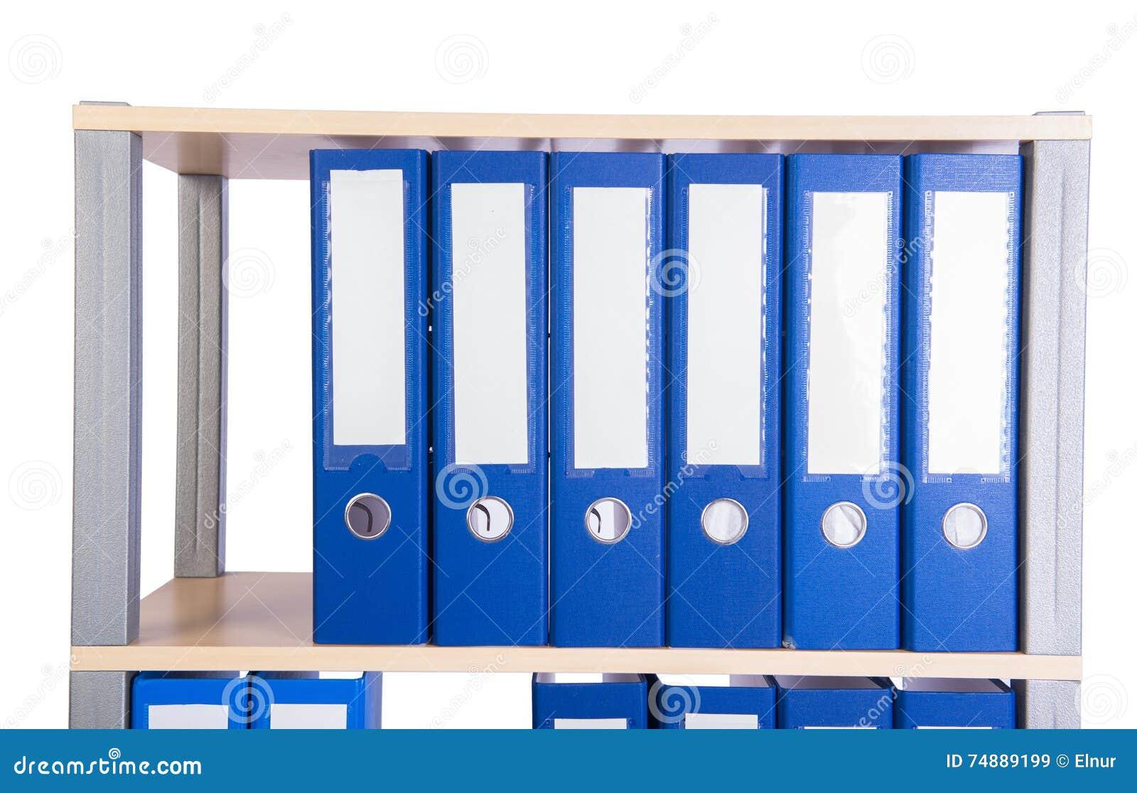 Wiele segregator falcówki na półce