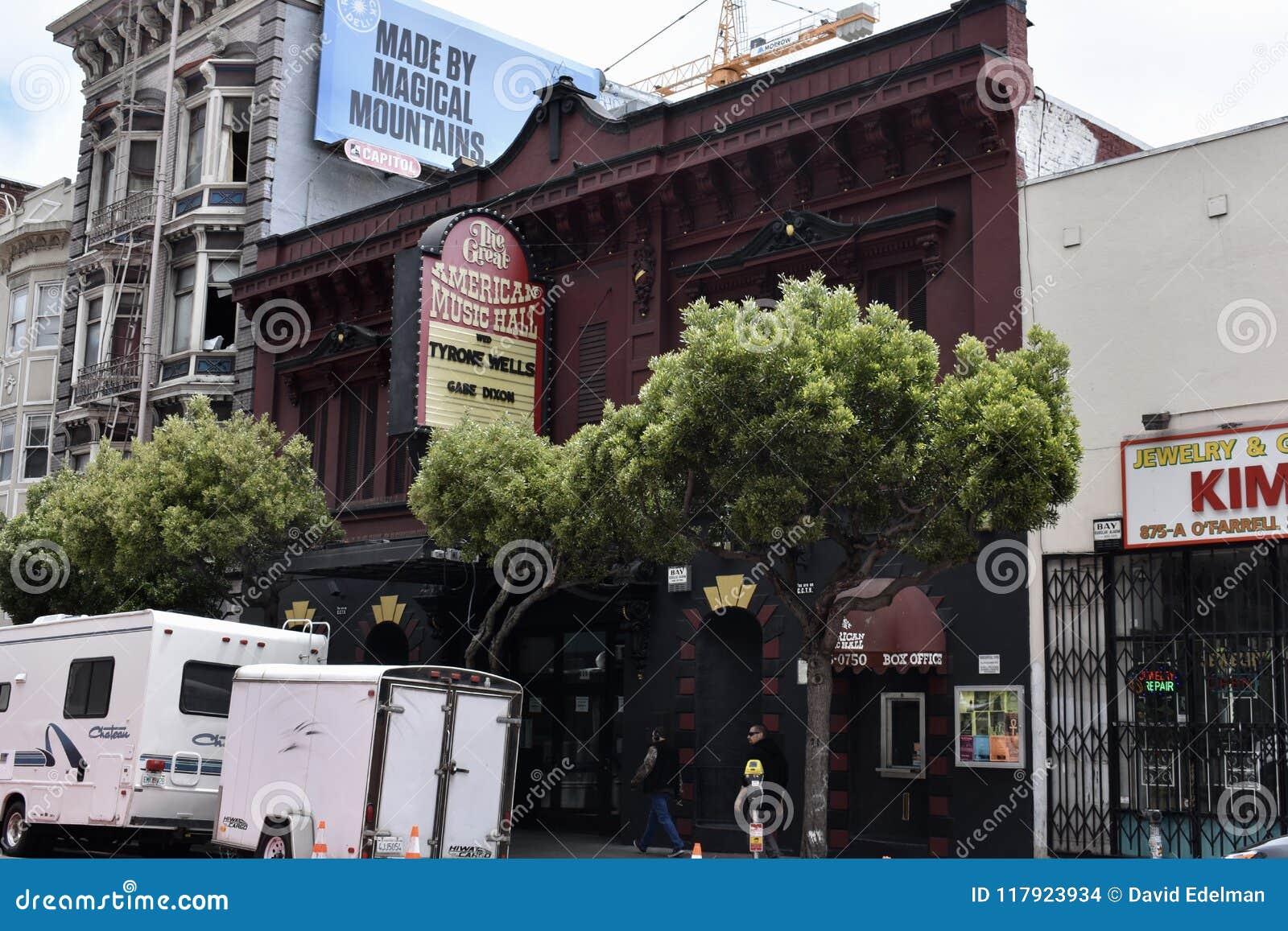 Wielka Amerykańska hala koncertowa, San Fransisco ` s nocy stary klub, 1