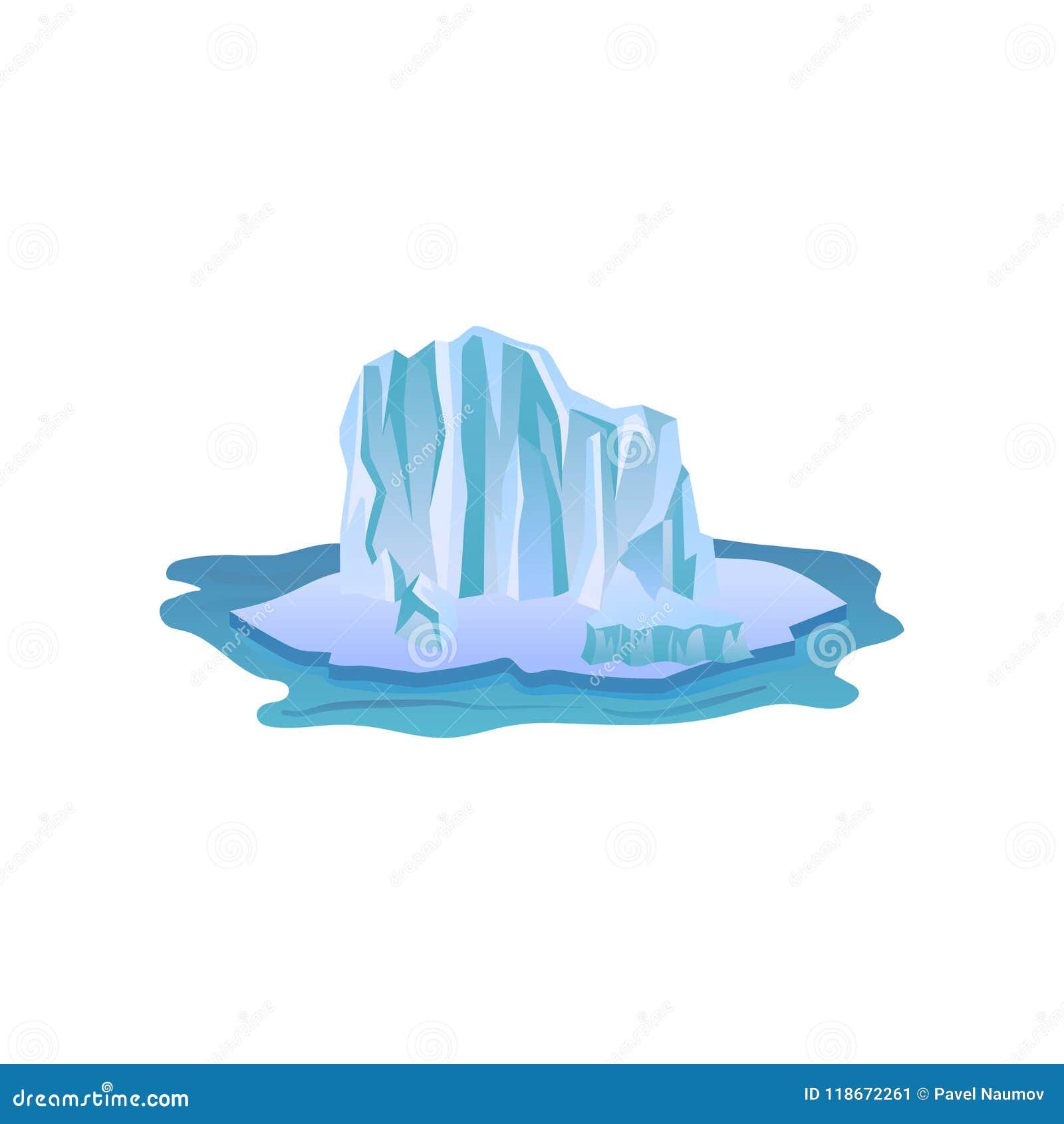 Wielka błękitna góra lodowa z światłami i cieniami Duży lodowy halny unosić się w czystej wodzie Arktyczna krajobrazowa Płaska we