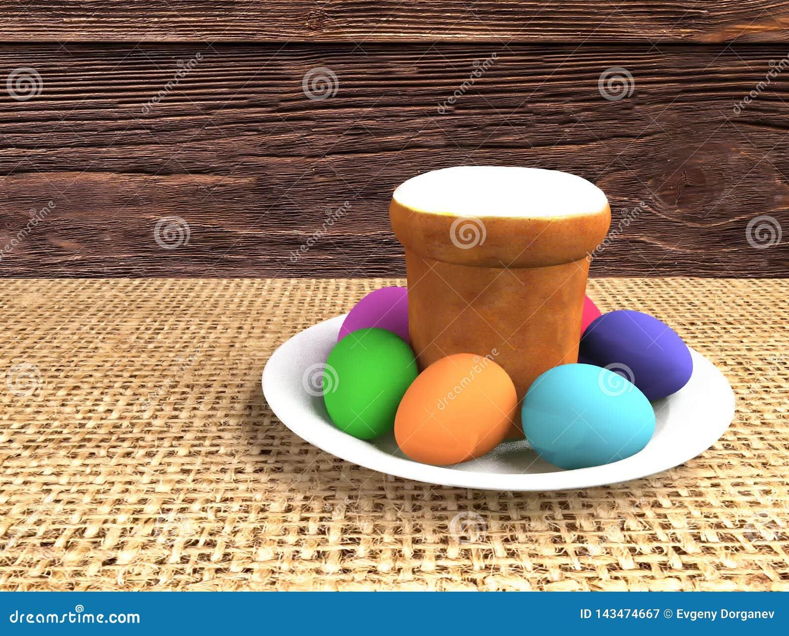 Wielkanoc życie wciąż ilustracja