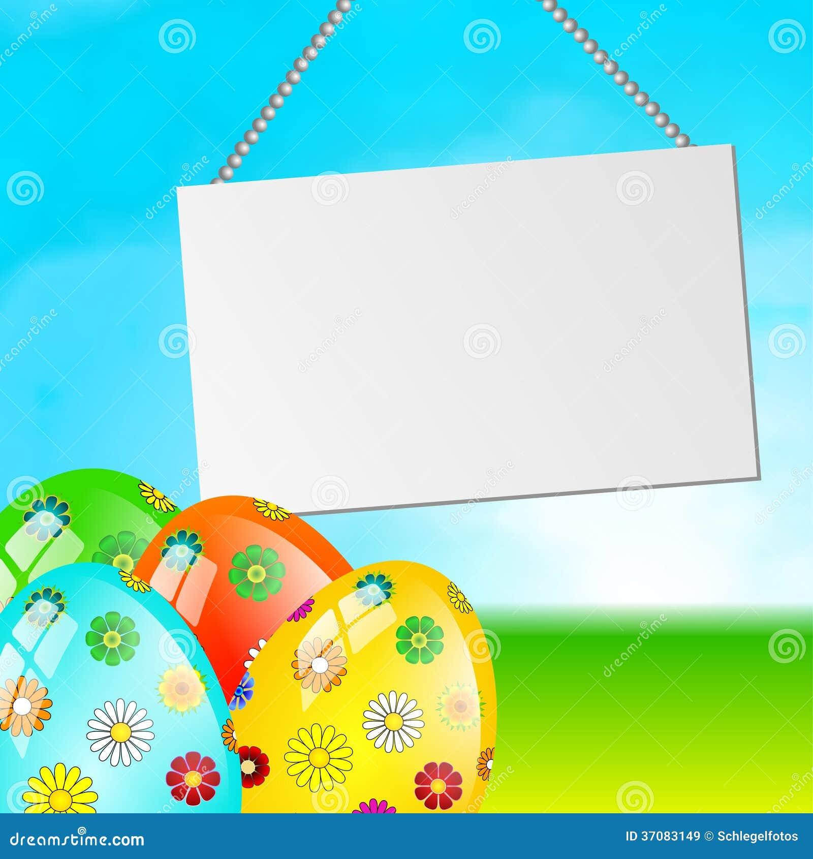 Download Wielkanocnego jajka karta ilustracji. Ilustracja złożonej z plakat - 37083149