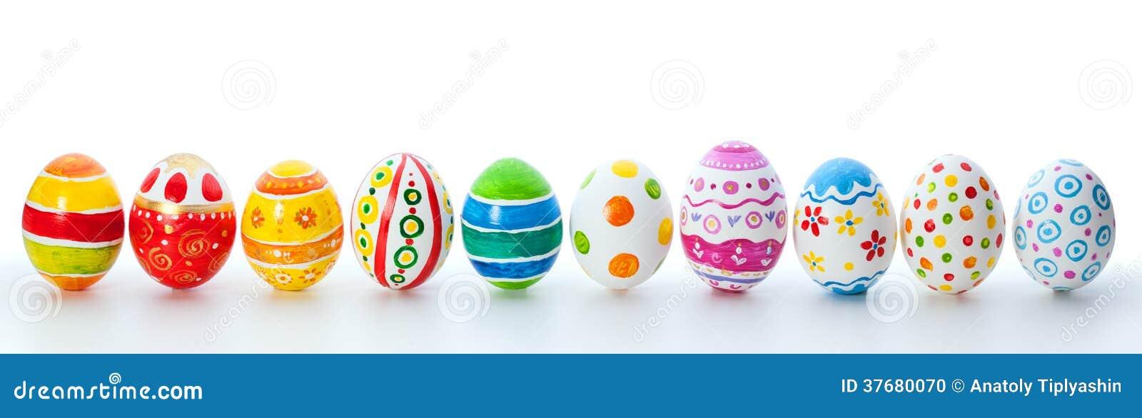 Wielkanocni kolorów jajka