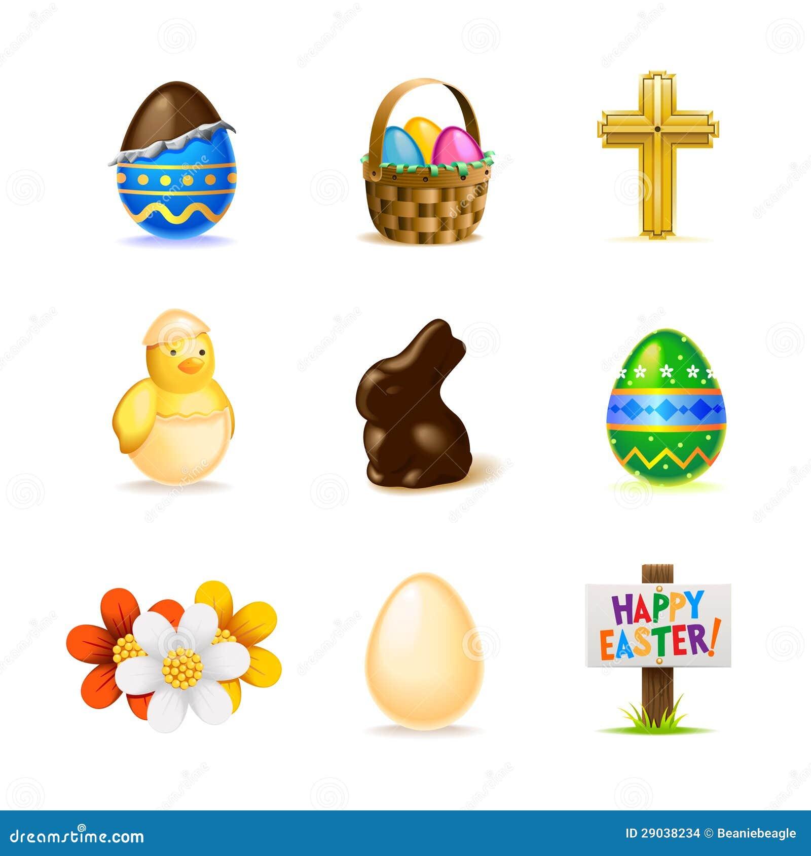 Wielkanocny ikona set