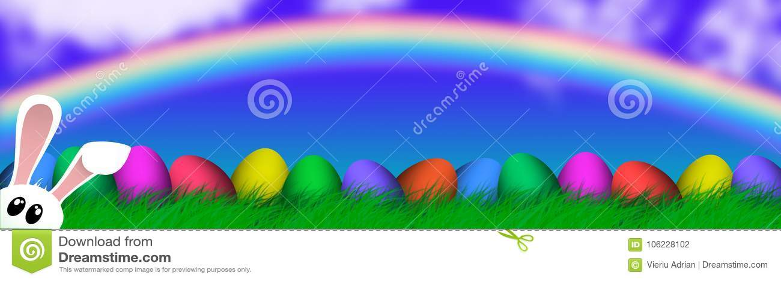 Wielkanocny Kolorowy jajko religii tła wakacje