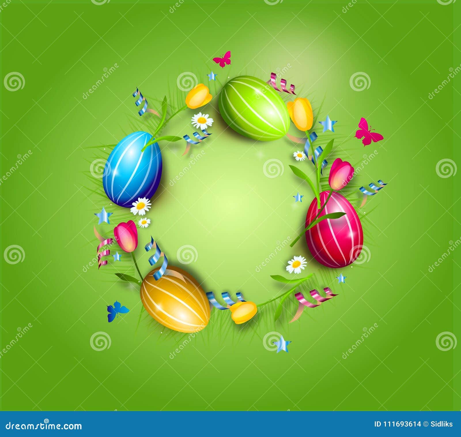 Wielkanocnych jajek okręgu tło