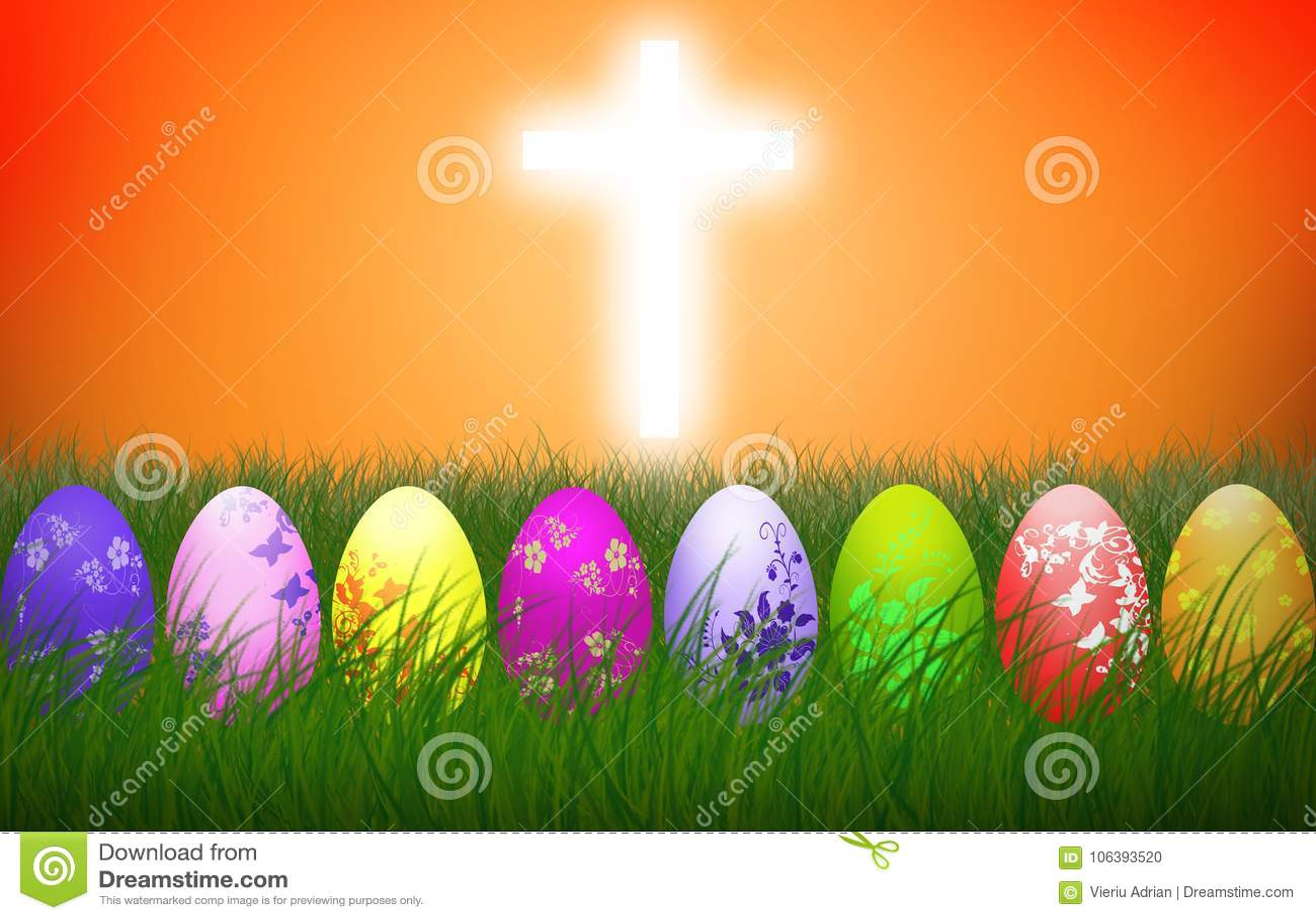 Wielkanocy jajek religii tła Przecinający Kolorowy wakacje