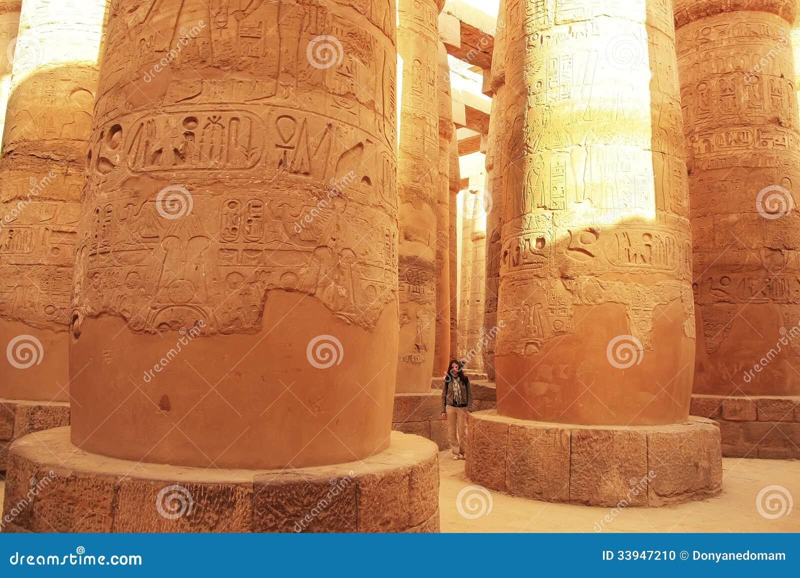 Wielki hipostyl Hall, Karnak świątynny kompleks, Luxor